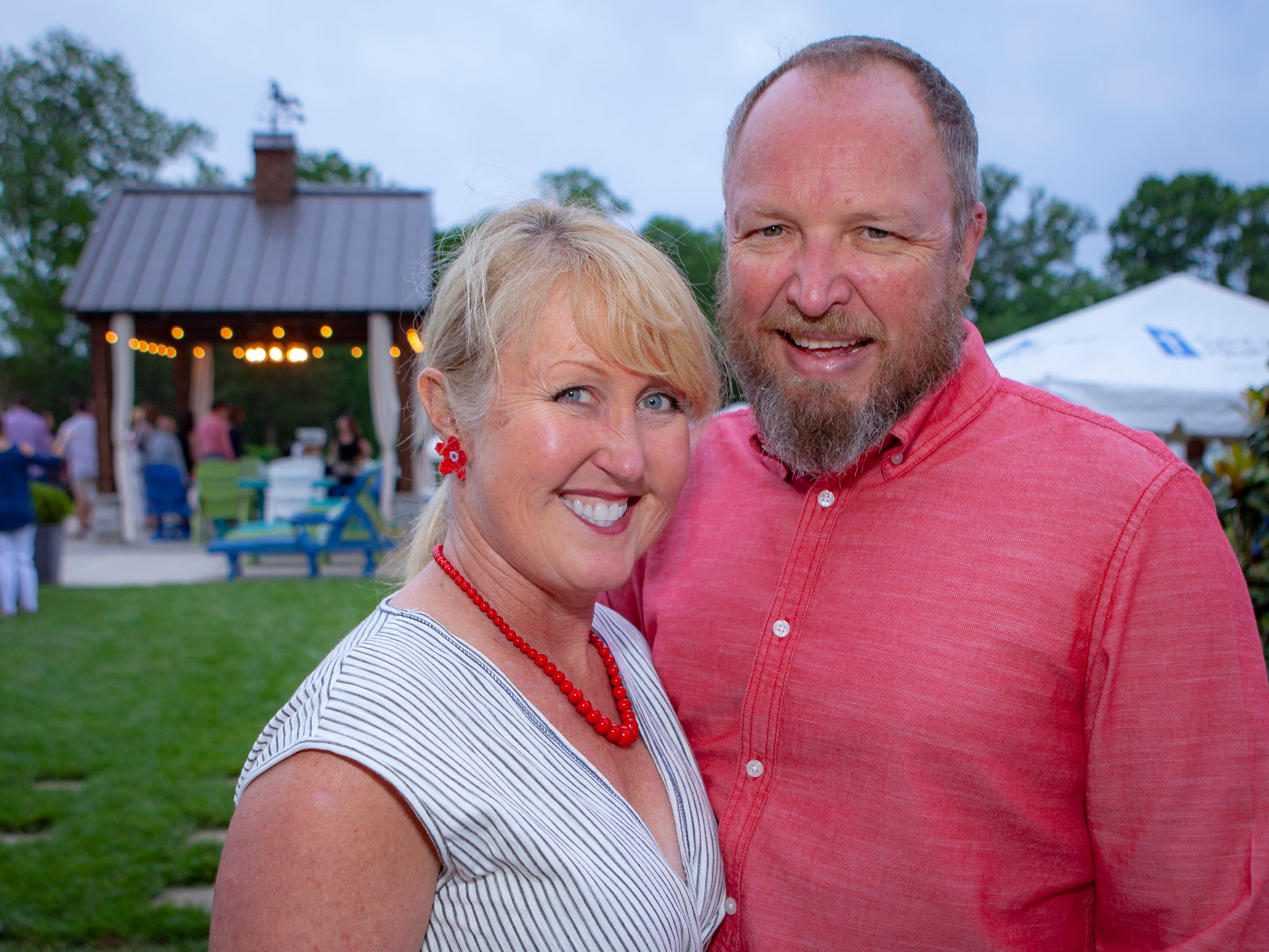 Karen McMahon and Glen Linthicum enjoyed a Cajun feast under the stars at United Way's Red, White and Bayou, held Friday, May 10, 2019 at the home of Jimmy & Nikkole Aho.