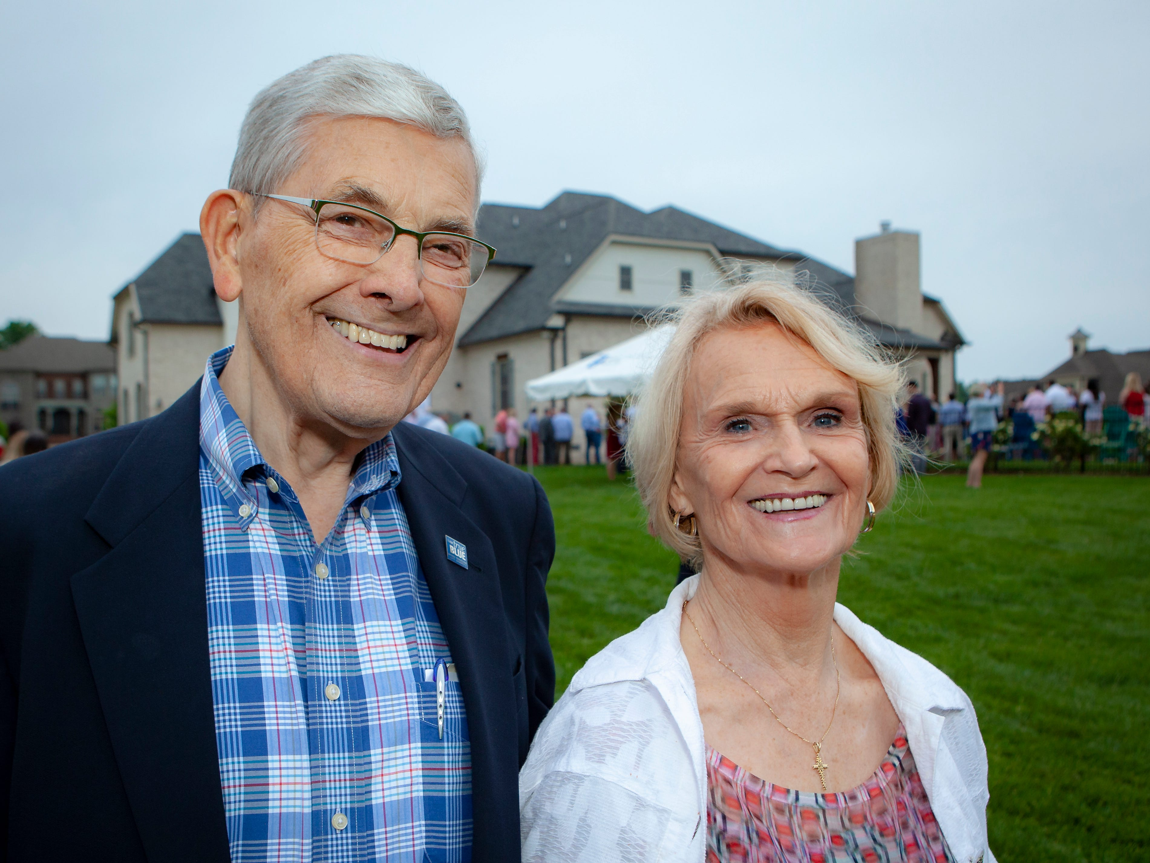 John Hood and Marie Wells enjoyed a Cajun feast under the stars at United Way's Red, White and Bayou, held Friday, May 10, 2019 at the home of Jimmy & Nikkole Aho.