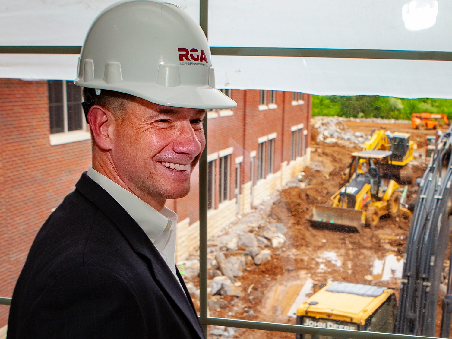 Murfreesboro City Councilman Ronnie Martin looks over construction at Salem Elementary on Friday, May 10, 2019. Murfreesboro City Schools' 13th campus will open in July 2019.