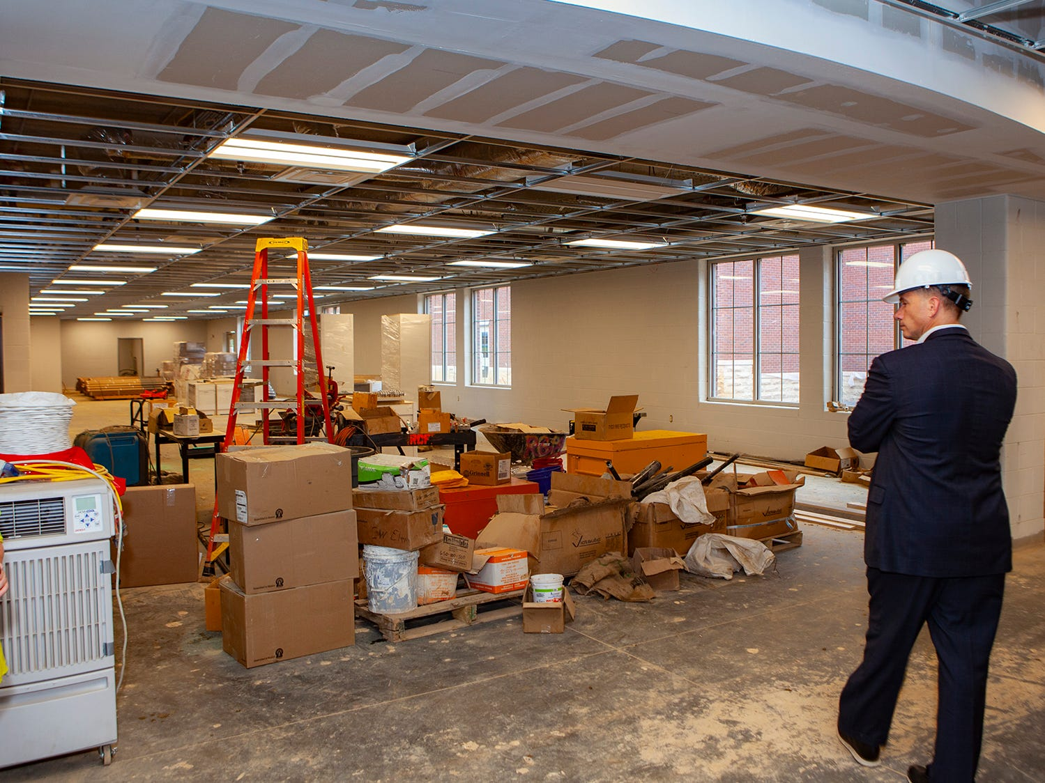 Inside the Salem Elementary library. Murfreesboro City Schools' 13th campus will open in July 2019.