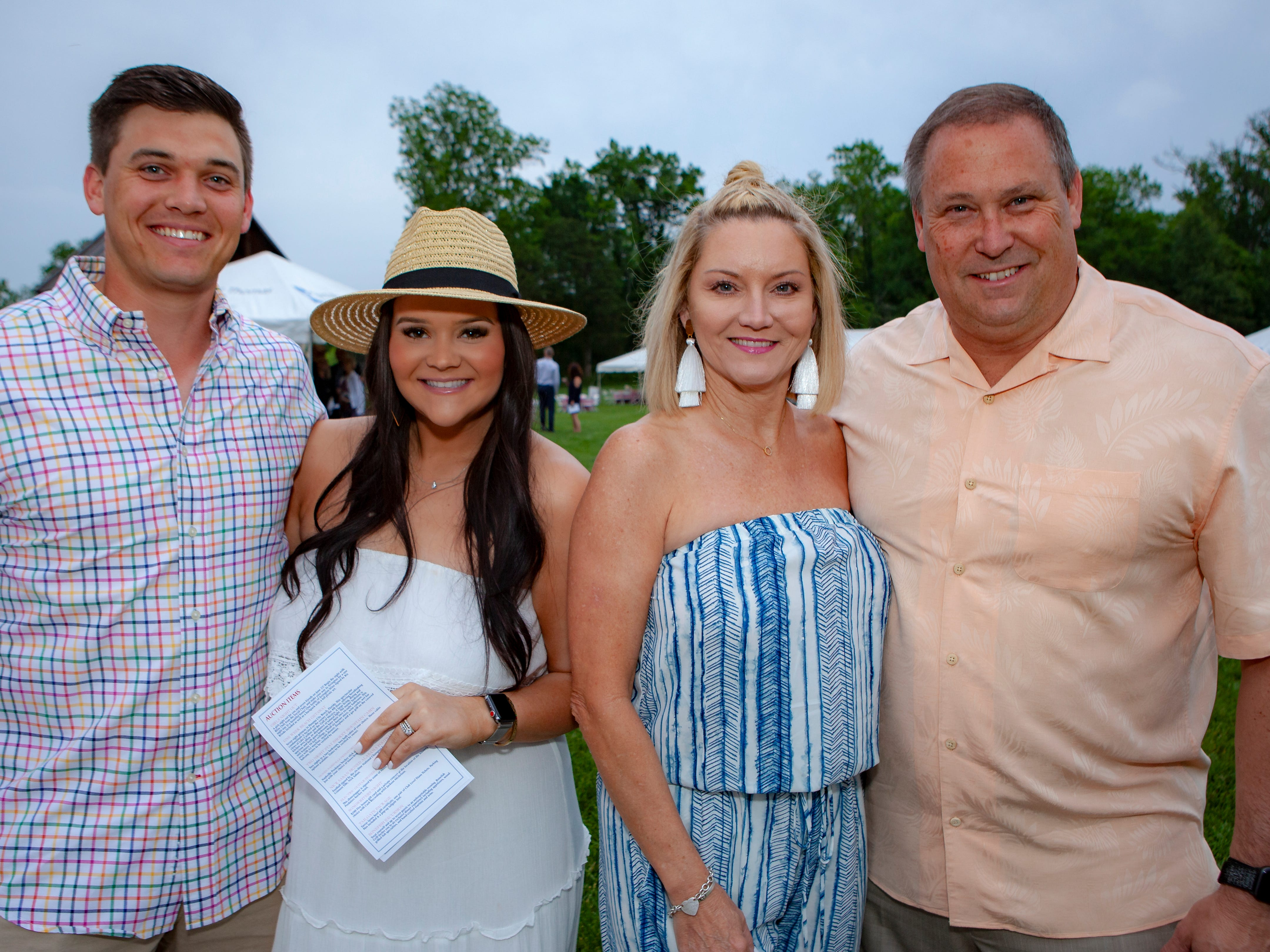Connor, Megan, Tabatha and Mike Shea enjoyed a Cajun feast under the stars at United Way's Red, White and Bayou, held Friday, May 10, 2019 at the home of Jimmy & Nikkole Aho.