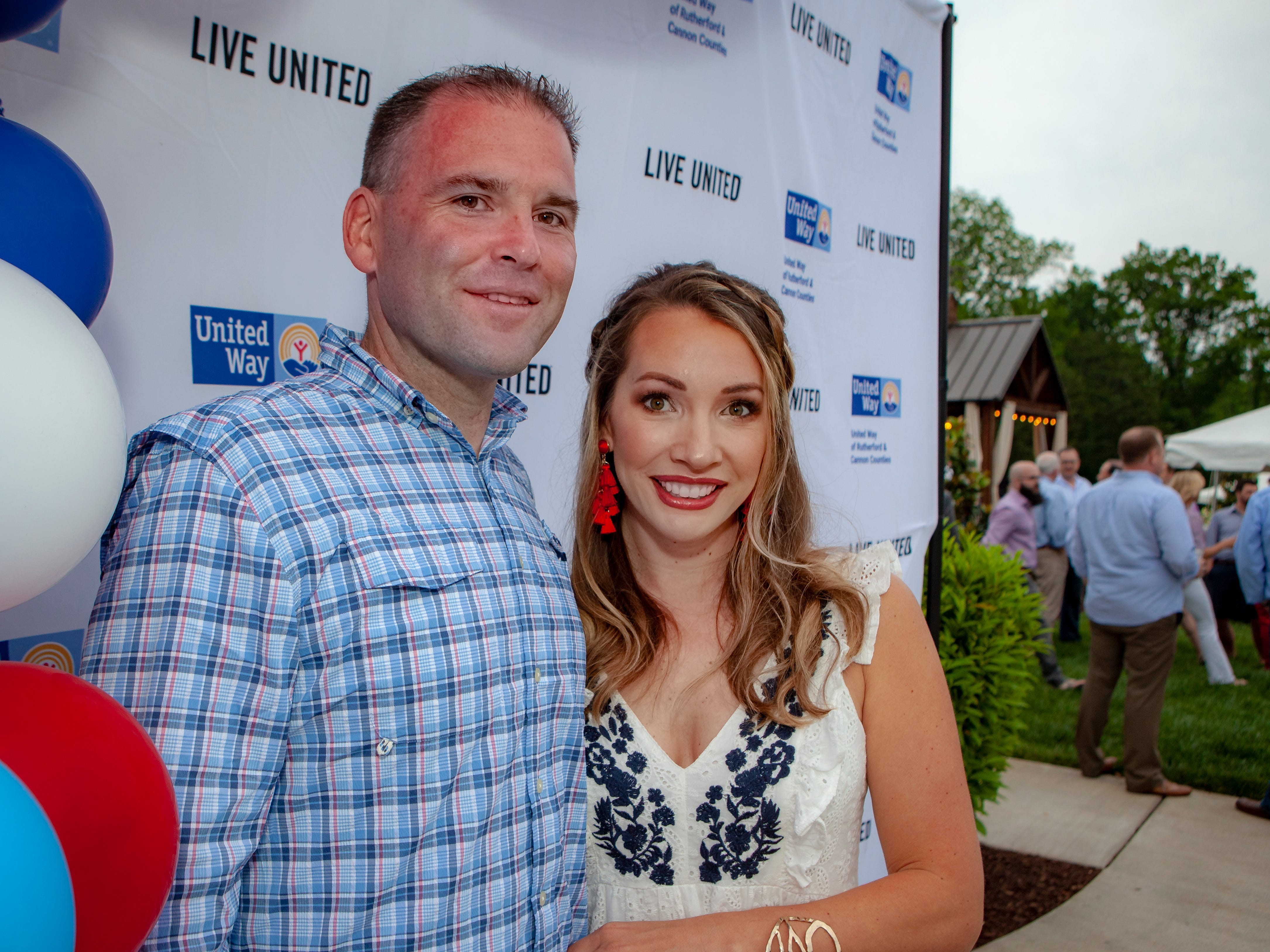 Jimmy and Nikkole Aho opened their home for guests to enjoy a Cajun feast under the stars at United Way's Red, White and Bayou, held Friday, May 10, 2019.