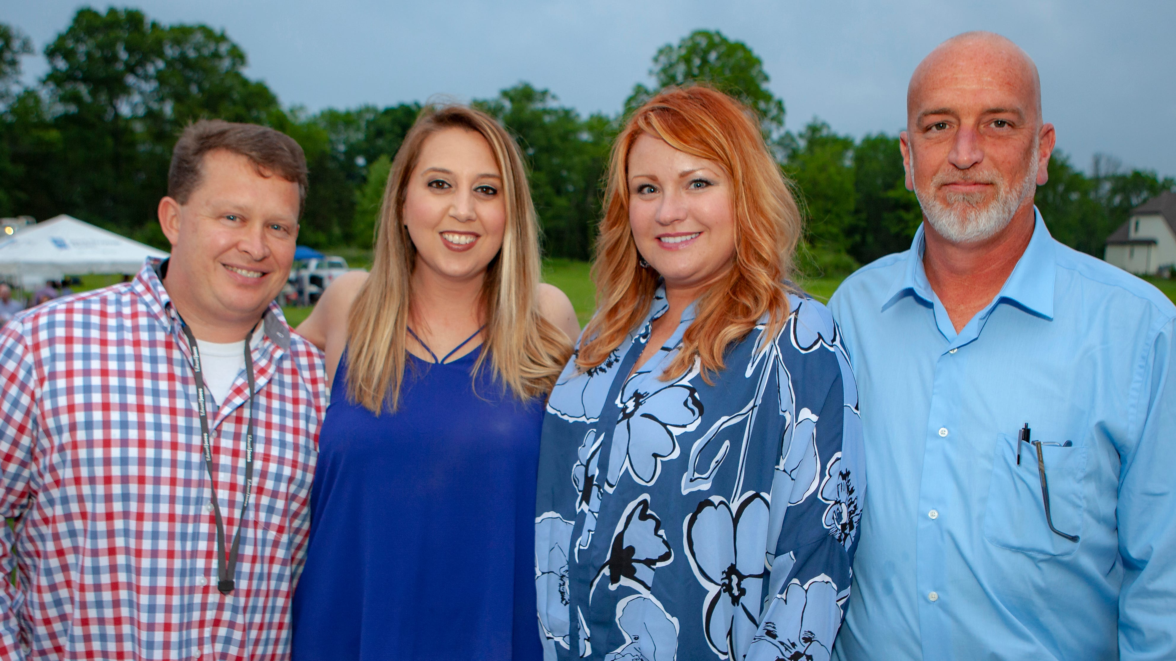 Alan and Amanda Brown, Jamie Craig and Tony Weigant enjoyed a Cajun feast under the stars at United Way's Red, White and Bayou, held Friday, May 10, 2019 at the home of Jimmy & Nikkole Aho.