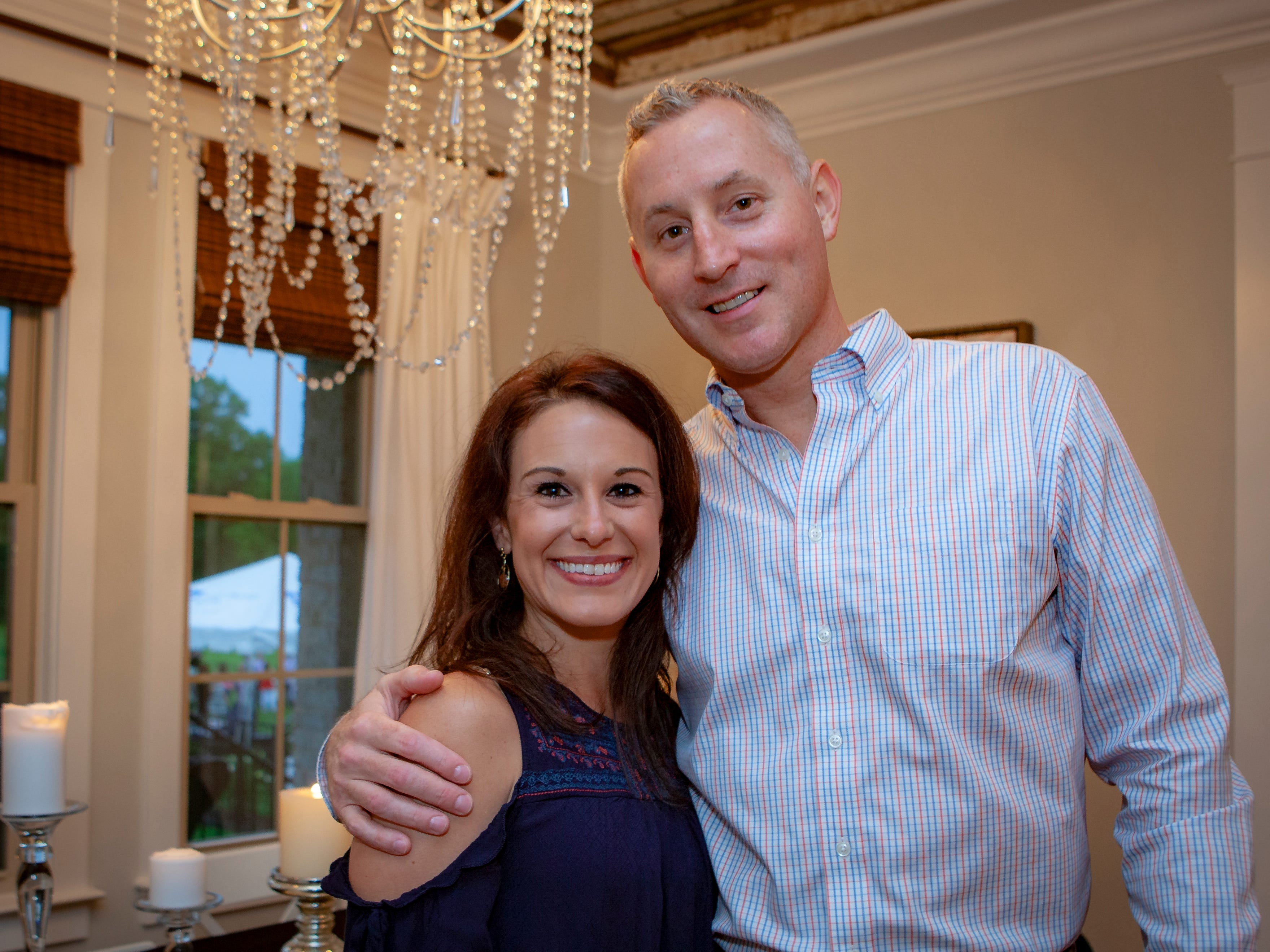 Meagan Altman and Keith Kline enjoyed a Cajun feast under the stars at United Way's Red, White and Bayou, held Friday, May 10, 2019 at the home of Jimmy & Nikkole Aho.