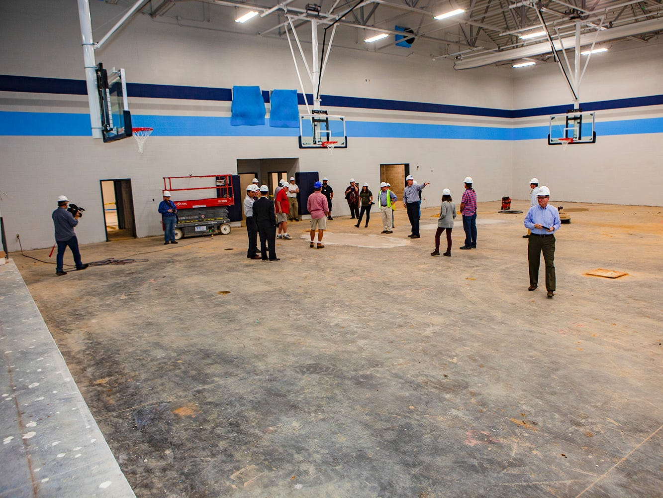 Inside the gym at Salem Elementary. Murfreesboro City Schools' 13th campus will open in July 2019.