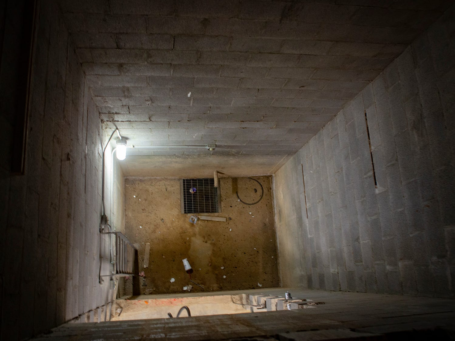 Inside the elevator shaft at Salem Elementary, Murfreesboro City Schools' 13th campus. The schol will open in July 2019.