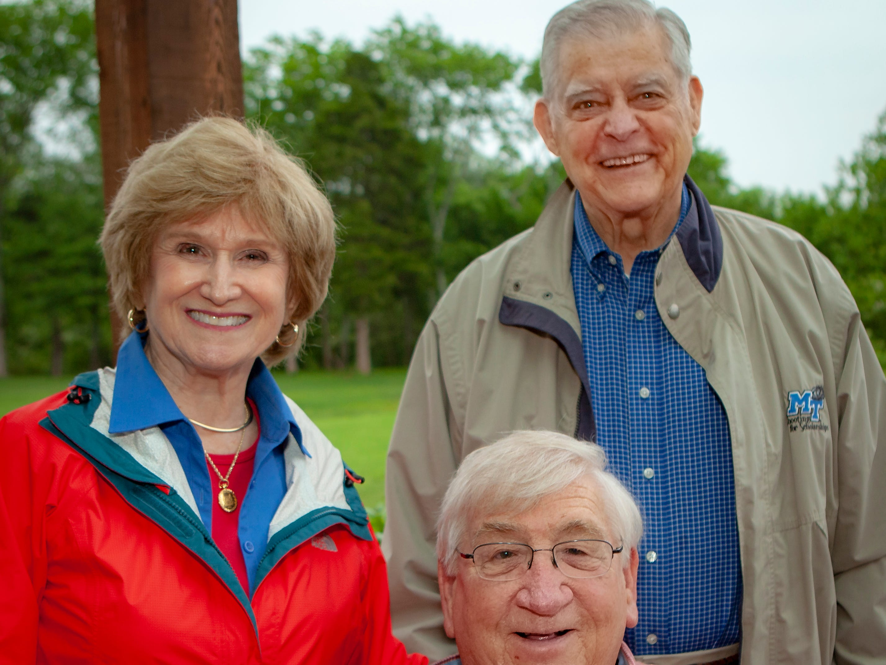 Eva Mae Spielman, Richard Slicker and Ross Spielman enjoyed a Cajun feast under the stars at United Way's Red, White and Bayou, held Friday, May 10, 2019 at the home of Jimmy & Nikkole Aho.