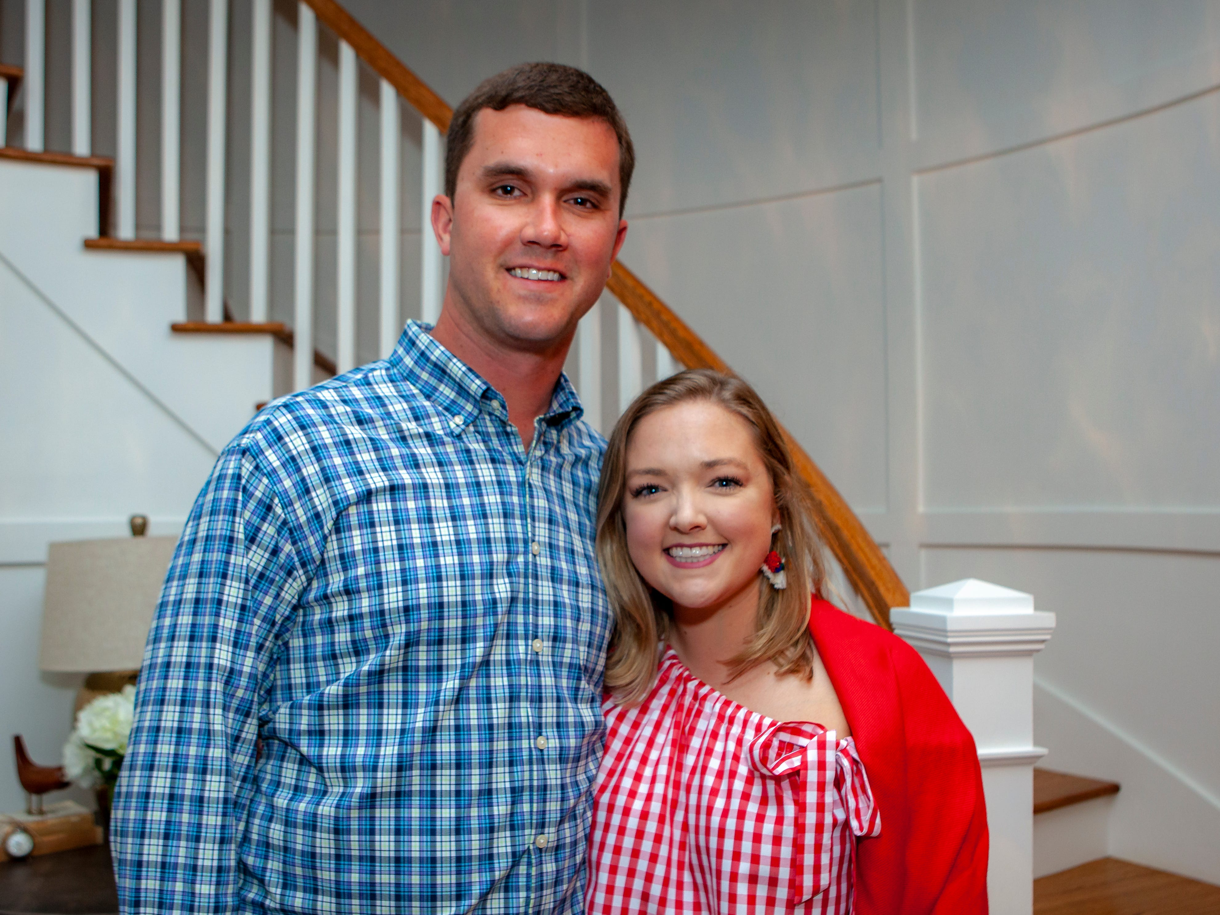 Brandon and Annie Cotter enjoyed a Cajun feast under the stars at United Way's Red, White and Bayou, held Friday, May 10, 2019 at the home of Jimmy & Nikkole Aho.