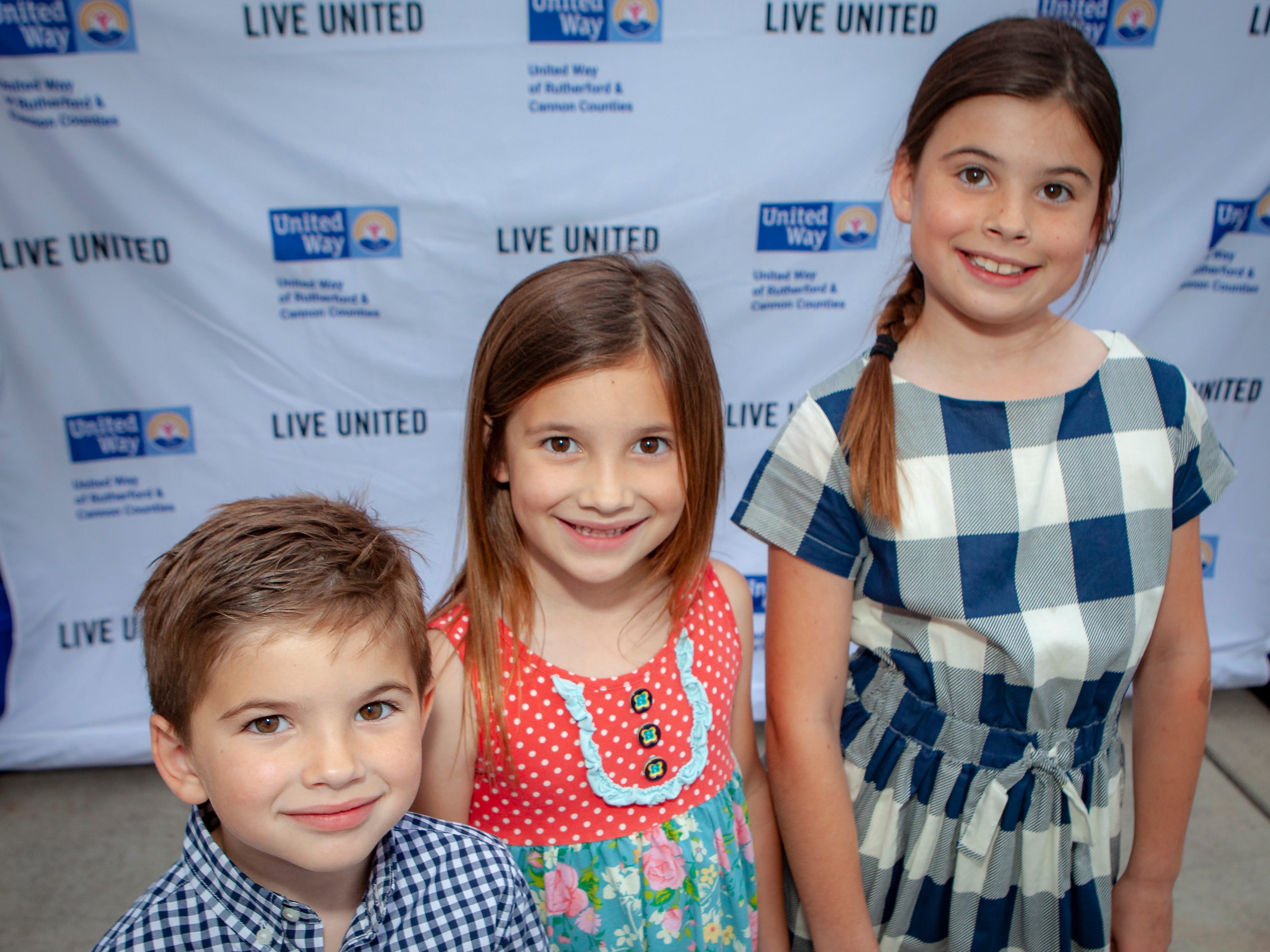 Oliver, Piper and Lucy Aho enjoyed a Cajun feast under the stars at United Way's Red, White and Bayou, held Friday, May 10, 2019 at the home of Jimmy & Nikkole Aho.