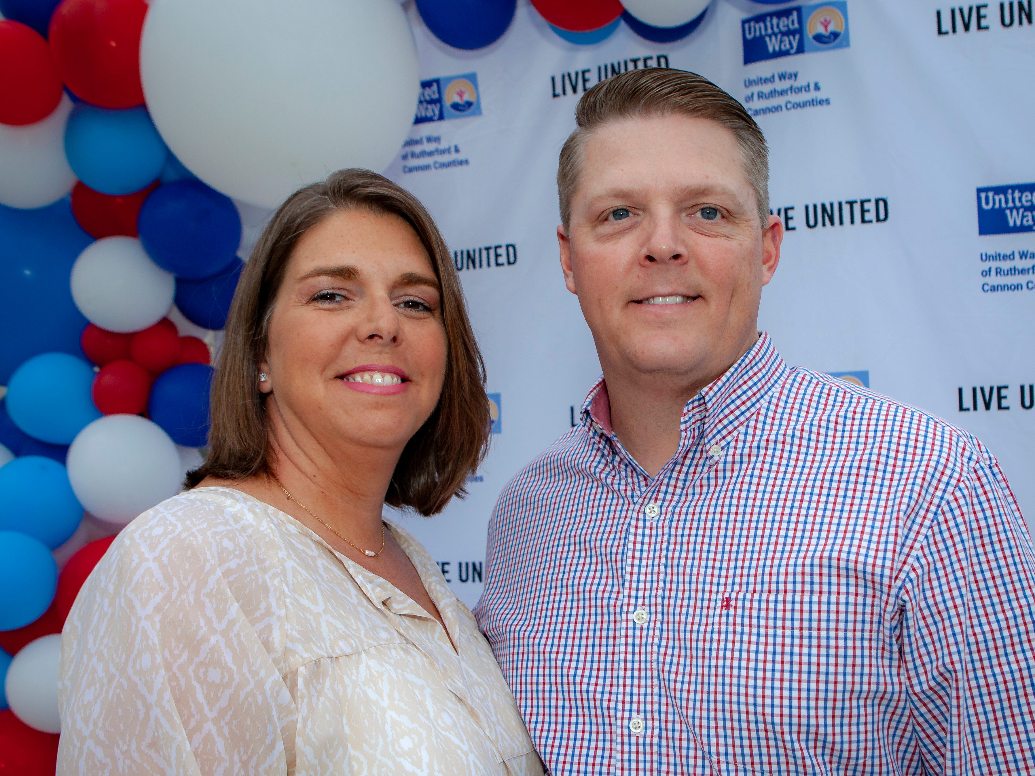Angela and Erik Smithson enjoyed a Cajun feast under the stars at United Way's Red, White and Bayou, held Friday, May 10, 2019 at the home of Jimmy & Nikkole Aho.