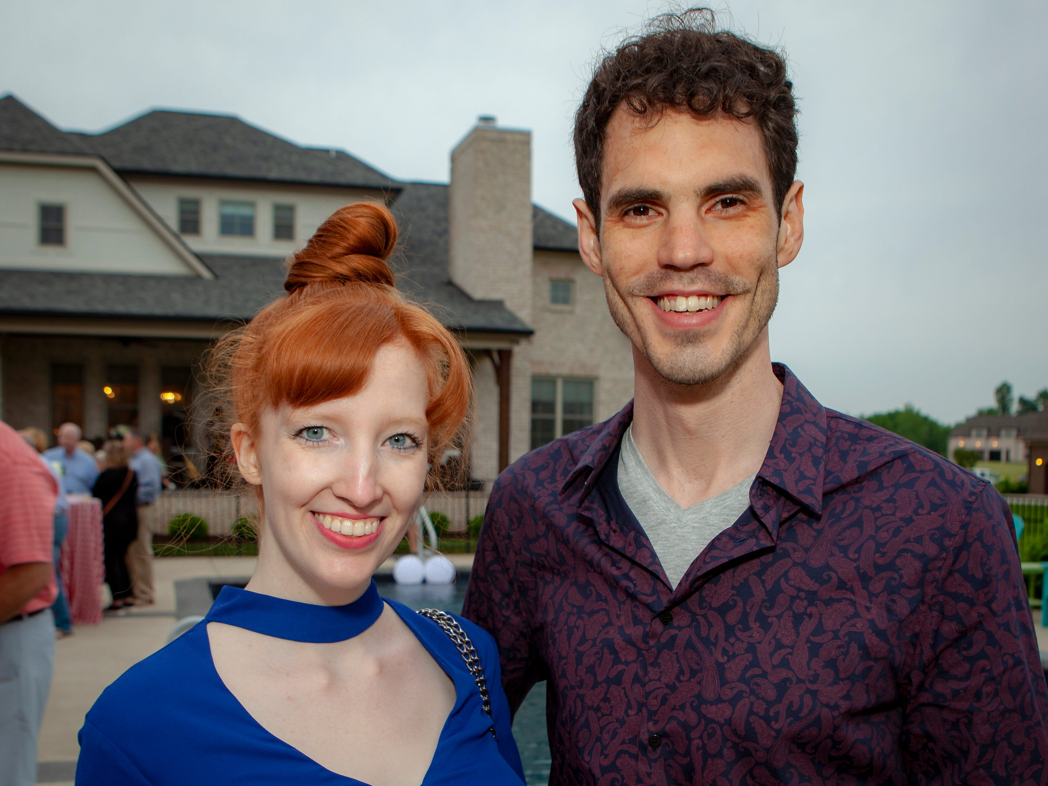 Casey Busch and Joe Canter enjoyed a Cajun feast under the stars at United Way's Red, White and Bayou, held Friday, May 10, 2019 at the home of Jimmy & Nikkole Aho.