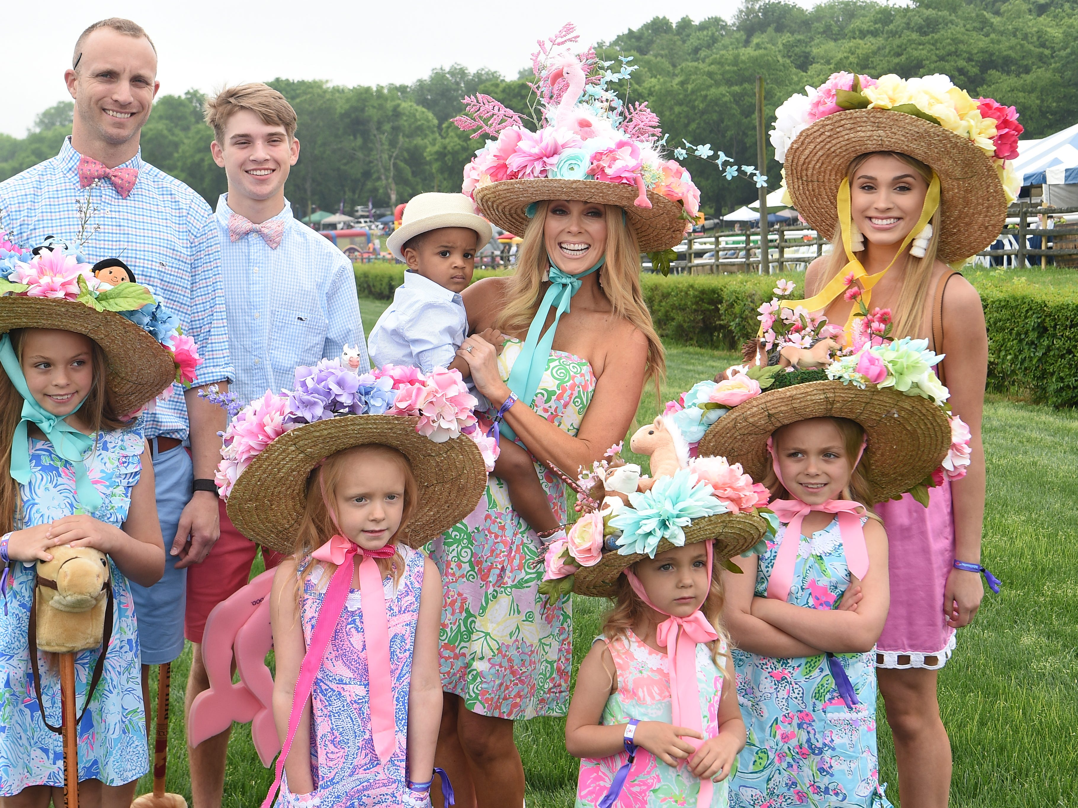Franklin residents Ronald and Jenny Reimold and their children at the 78th Iroquois Steeplechase at Percy Warner park in Nashville on Saturday, May, 11, 2019.