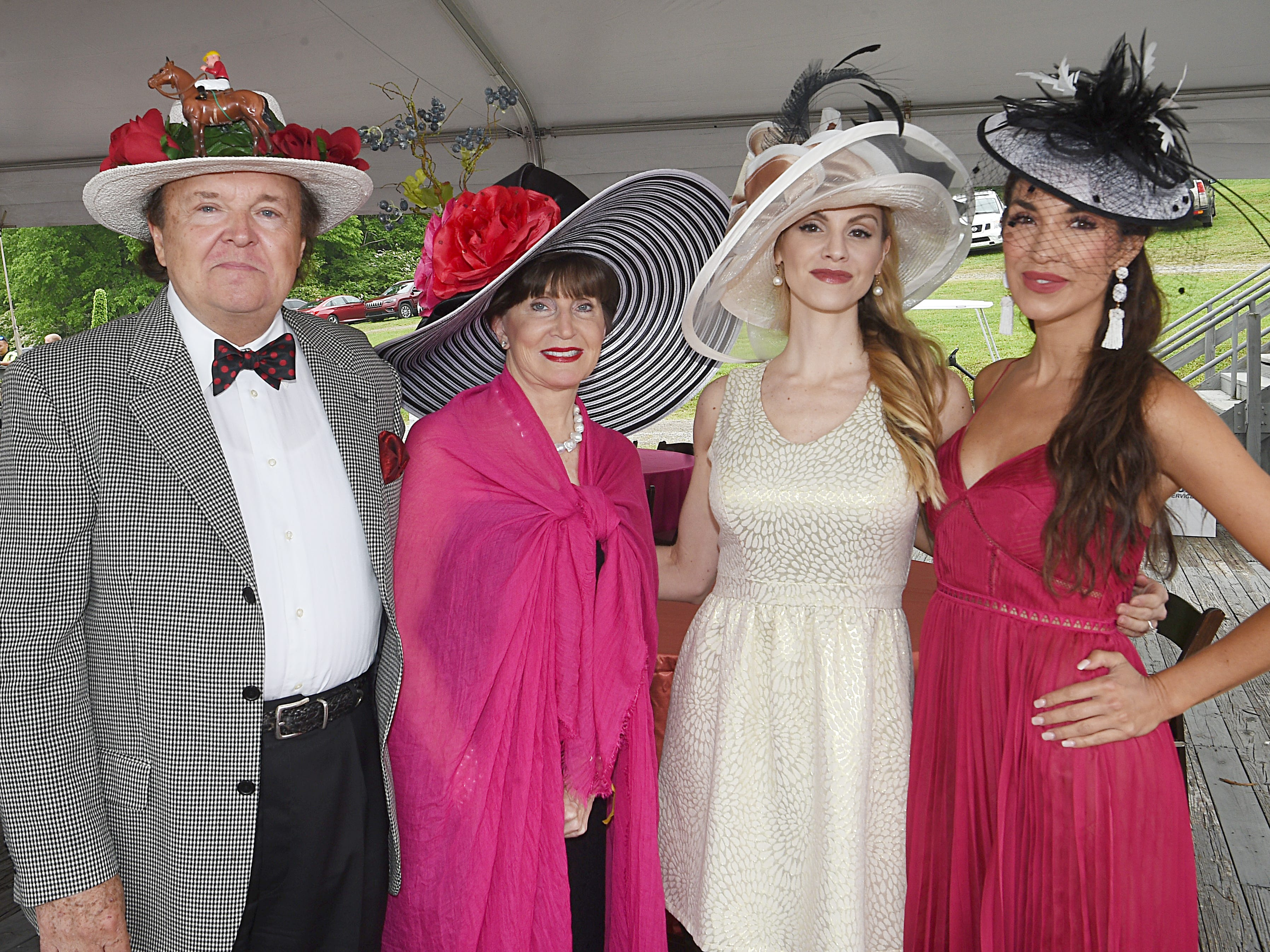 Steve Harder, Sandy McCoy, Cherly Brehm and Emily Galloway at the 78th Iroquois Steeplechase at Percy Warner park in Nashville on Saturday, May, 11, 2019.