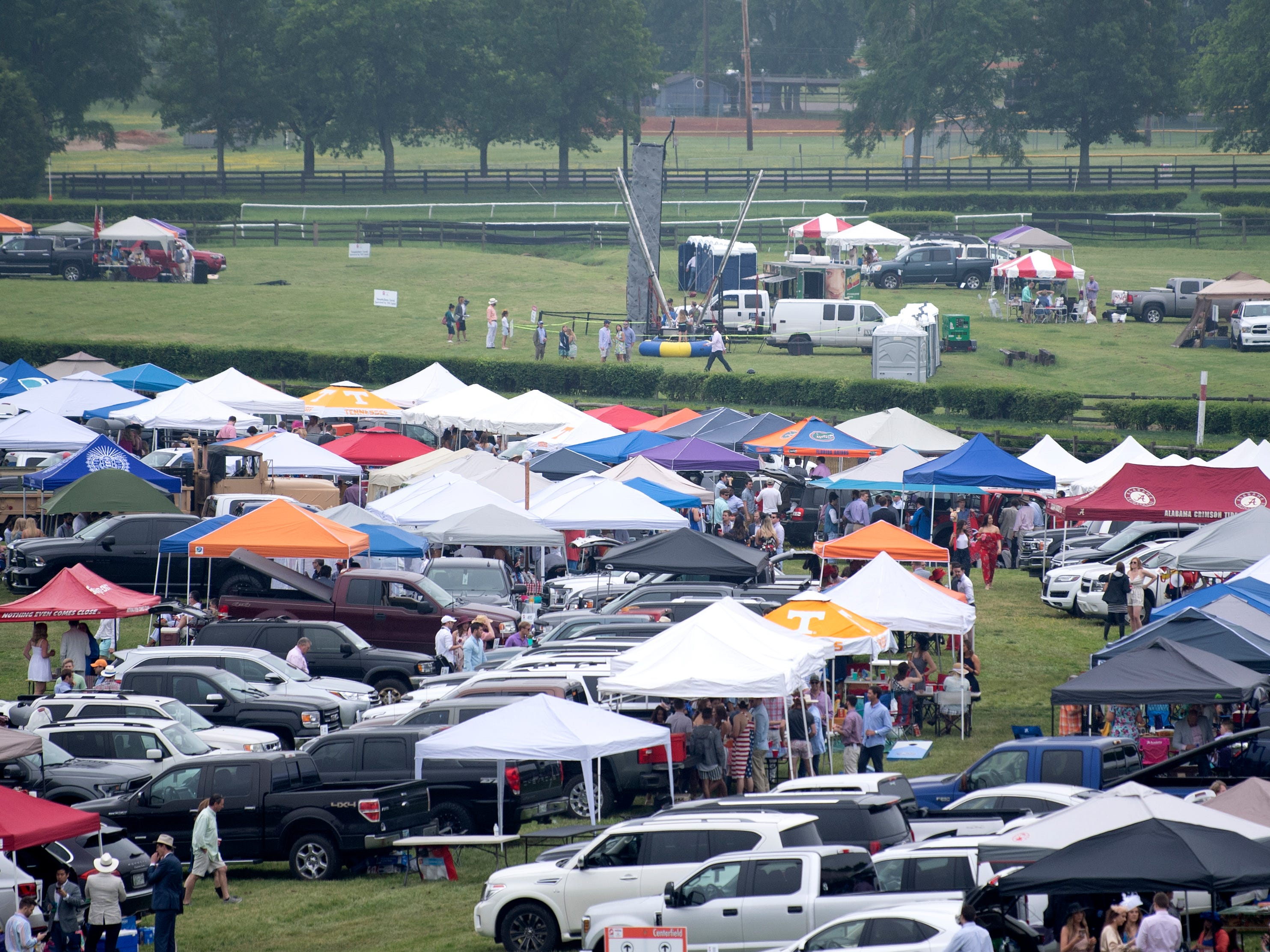 Tailgating at the 78th Iroquois Steeplechase at Percy Warner park in Nashville on Saturday, May, 11, 2019.