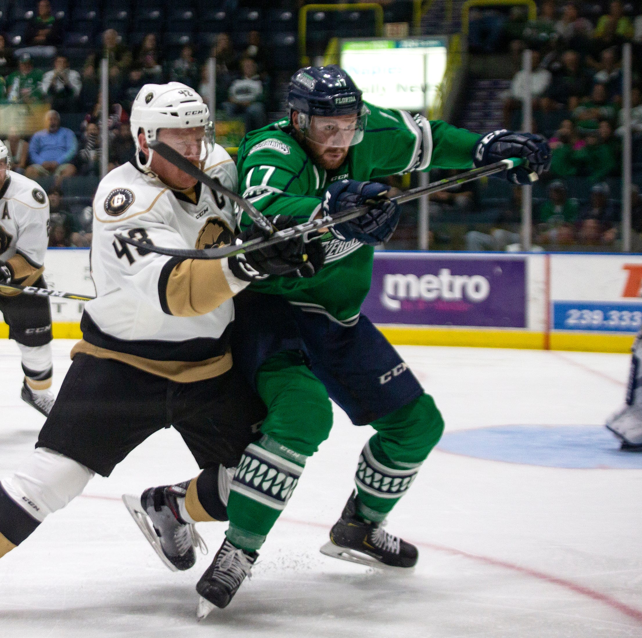 ECHL hockey: Growlers erupt in second period, blast Everblades to take 2-0 series lead