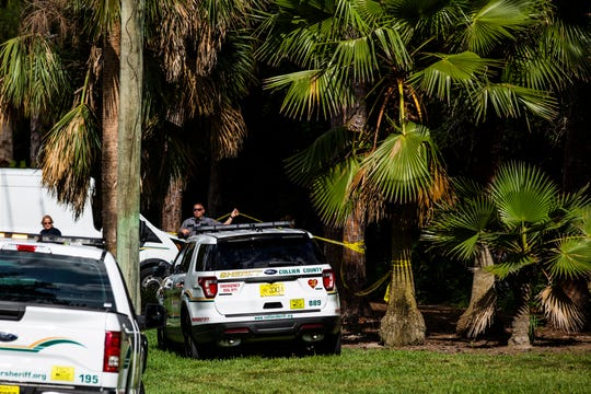 First responders at the scene of a plane crash in Collier County on Saturday, May 11, 2019. Collier deputies said the crash happened in the 4900 block of Hawthorn Woods Way.