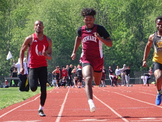 Newark senior Bobby Crenshaw, shown competing in the 2019 Ohio Capital Conference-Capital Division championships, recently announced he has committed to compete at Ashland University.