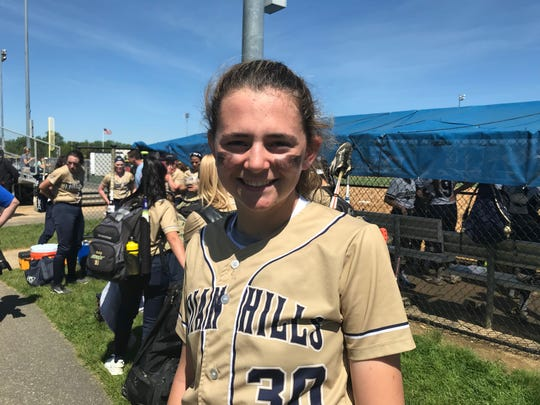 Indian Hills CF Meg Sears had the game-winning RBI for the Braves in the 10th inning against Ramapo.