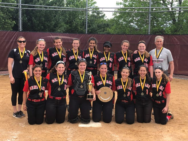 Hunterdon Central High School softball team blanked top-seeded Delaware Valley, 6-0 to claim the Hunterdon/Warren/Sussex Tournament championship at the Phillipsburg Athletic Complex on Saturday, May 11, 2019