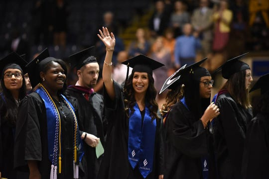 The College of Saint Elizabeth held its commencement exercises at the Mennen Arena in Hanover. May 11, 2019.