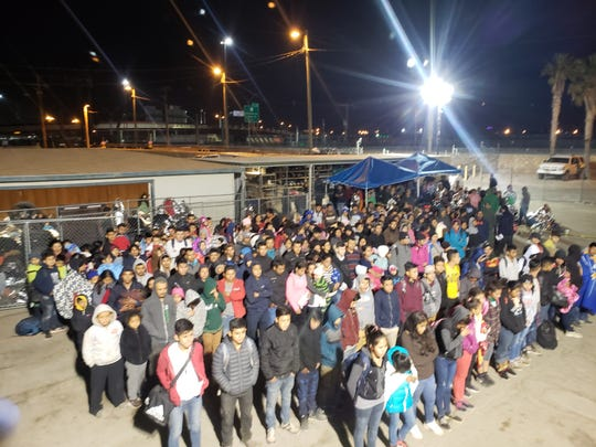 This group of illegal immigrants was apprehended Thursday near the Paso del Norte Port of Entry.
