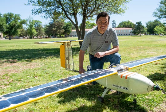 Jesus Rosales, a New Mexico State University mechanical engineering Ph.D. student, is leading a research project focused on increasing the endurance of unmanned aerial systems that could be used for rangeland and forest monitoring.