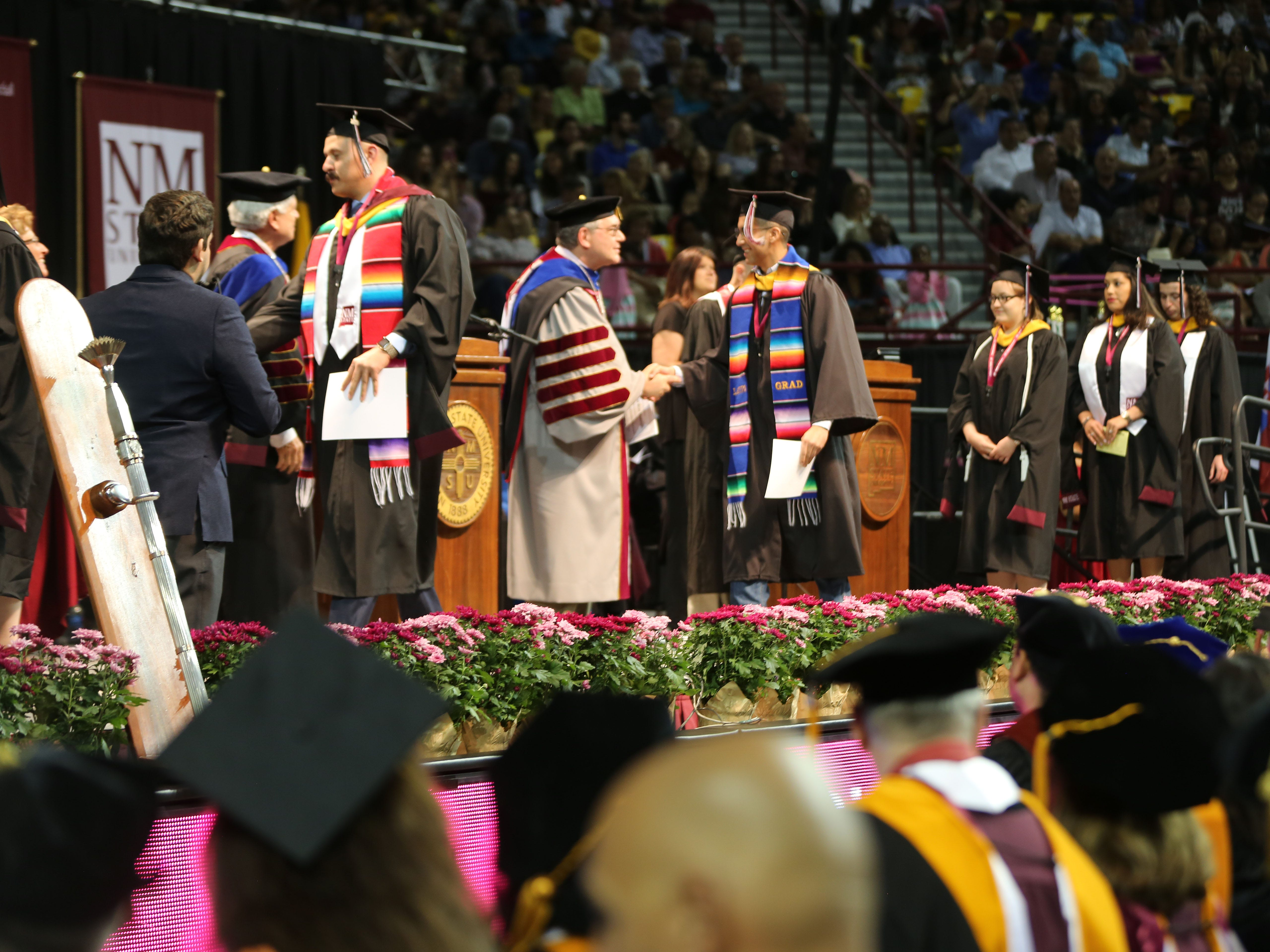 This year, 1,460 students earned their bachelor's degree at New Mexico State University, during morning and afternoon commencement ceremonies.