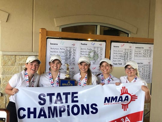 The Mesilla Valley Christian School girls golf team won the Class A-3A state title this weekend in Hobbs.