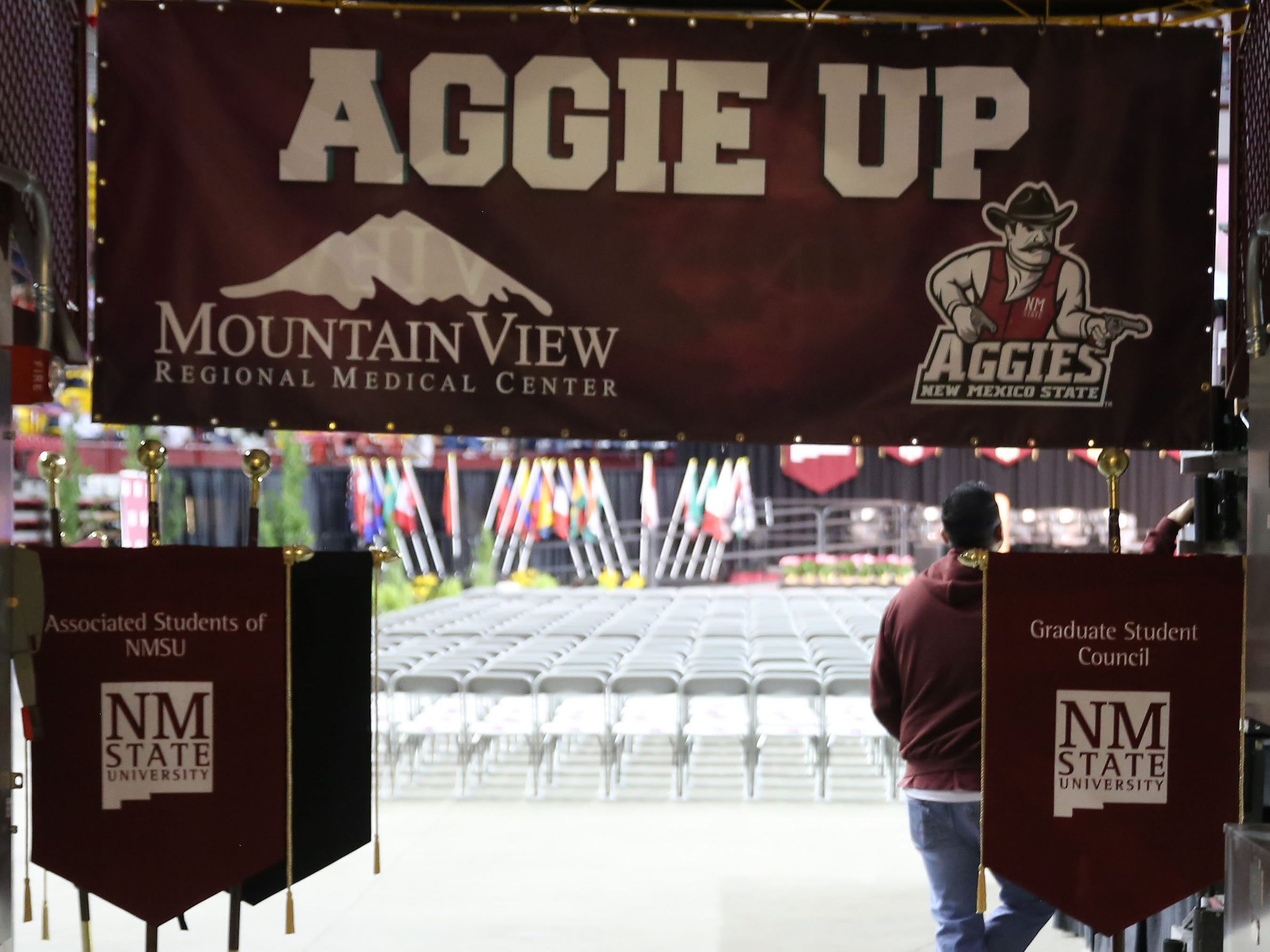 Go Aggies! Congrats to New Mexico State University students who received their degrees, Saturday May 11, 2019.