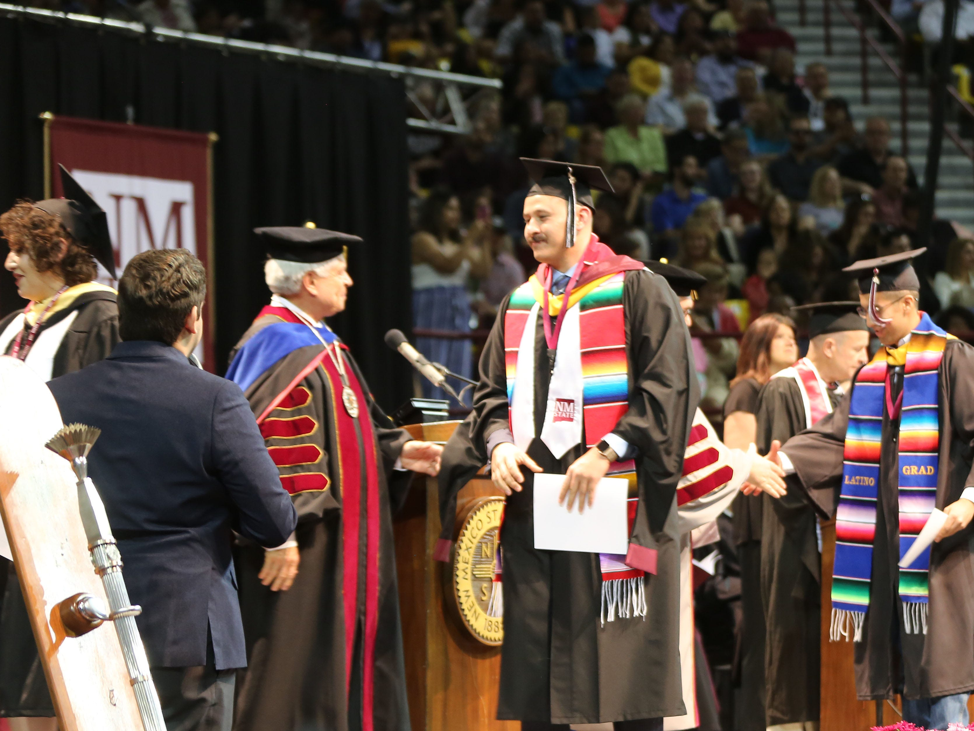 New Mexico State Universities Department of Arts and Sciences awarded 615 degrees this year, during two commencement ceremonies Saturday May 11, 2019.