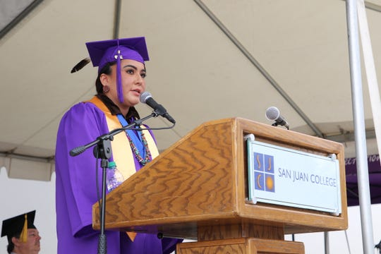 San Juan College Graduate Melanie Kee was the student speaker during the spring Commencement Ceremony on May 11.