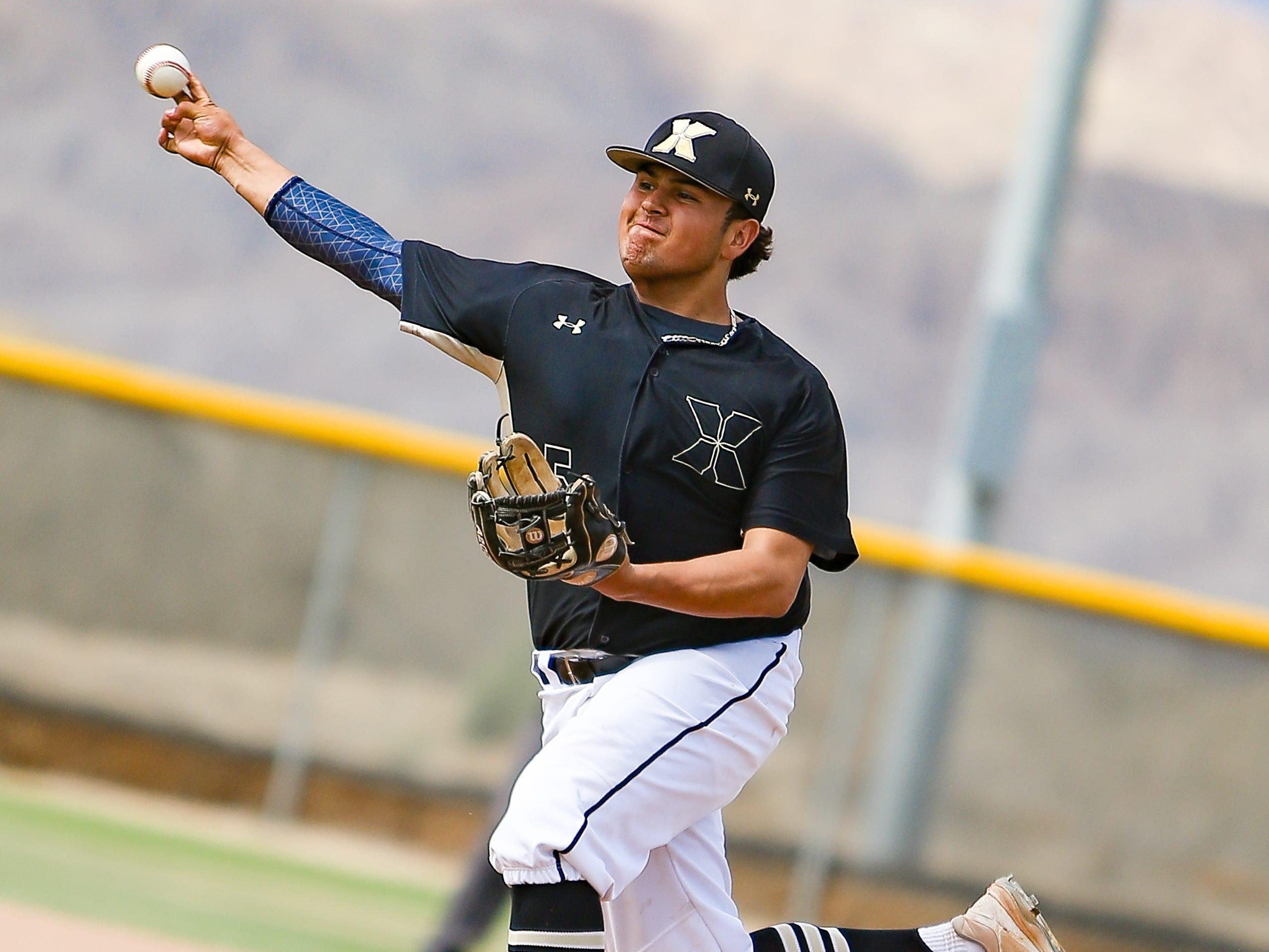 Xavier Prep starting pitcher Jordan Ruiz got the win in the Saints' 5-4 quarterfinal win over Century on Friday.