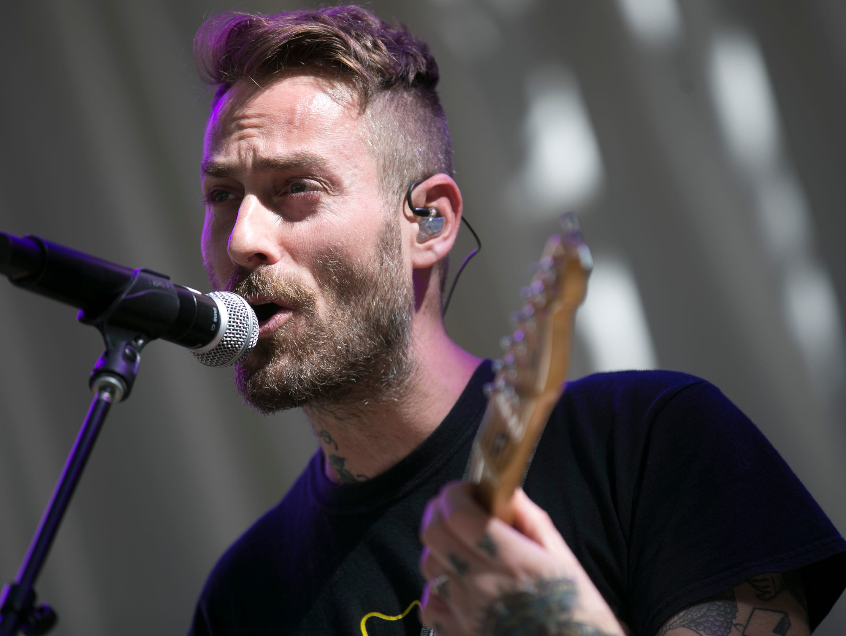 American Football performs on the main stage at the 2019 Form Arcosanti music festival near Camp Verde, Arizona on Fri. May. 10, 2019.