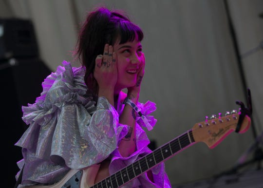 Japanese Breakfast performs at the 2019 FORM Arcosanti music festival near Camp Verde, Arizona, on May 10, 2019.
