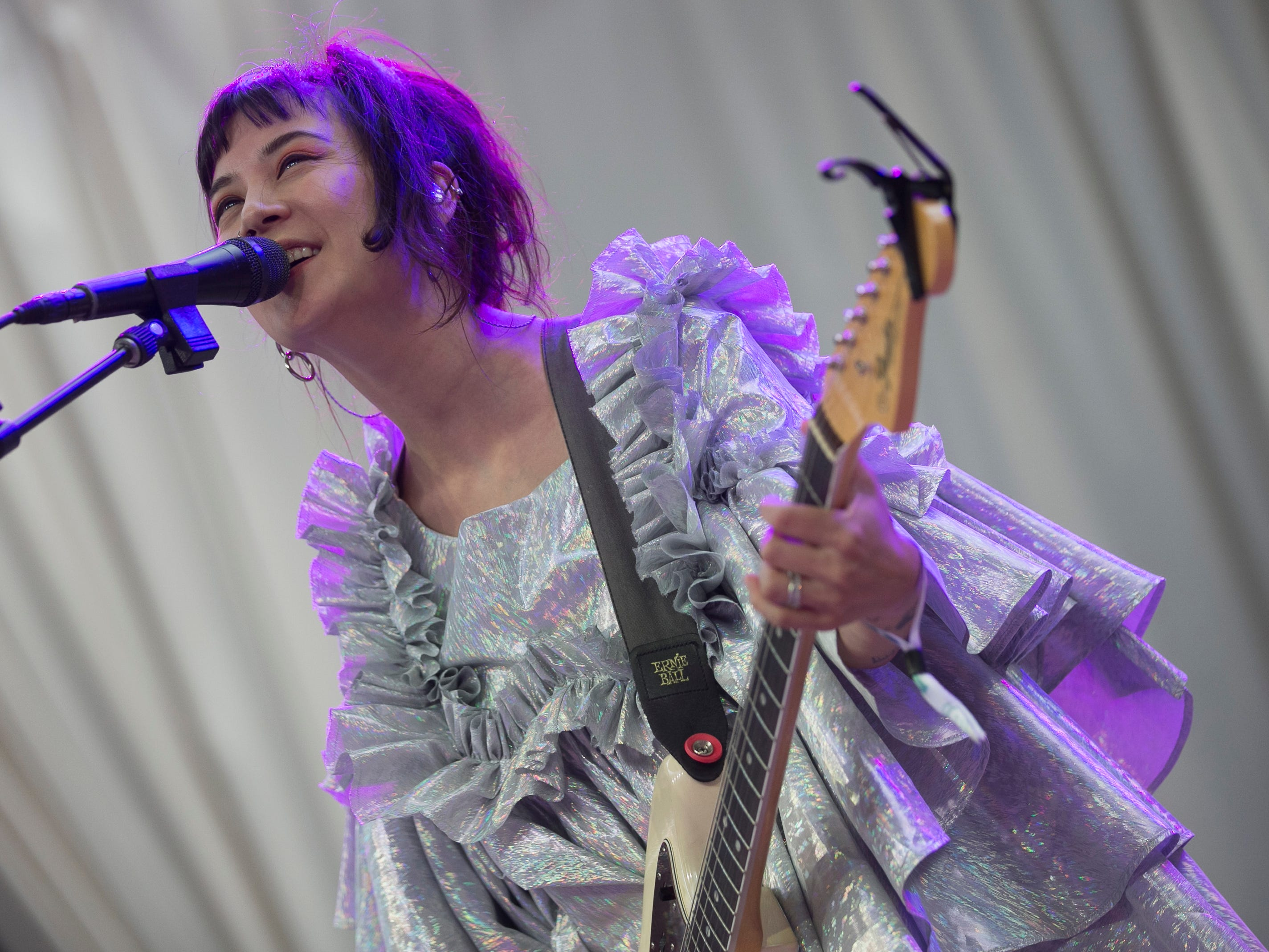 Japanese Breakfast performs at the 2019 FORM Arcosanti music festival near Camp Verde, Arizona on May 10, 2019.