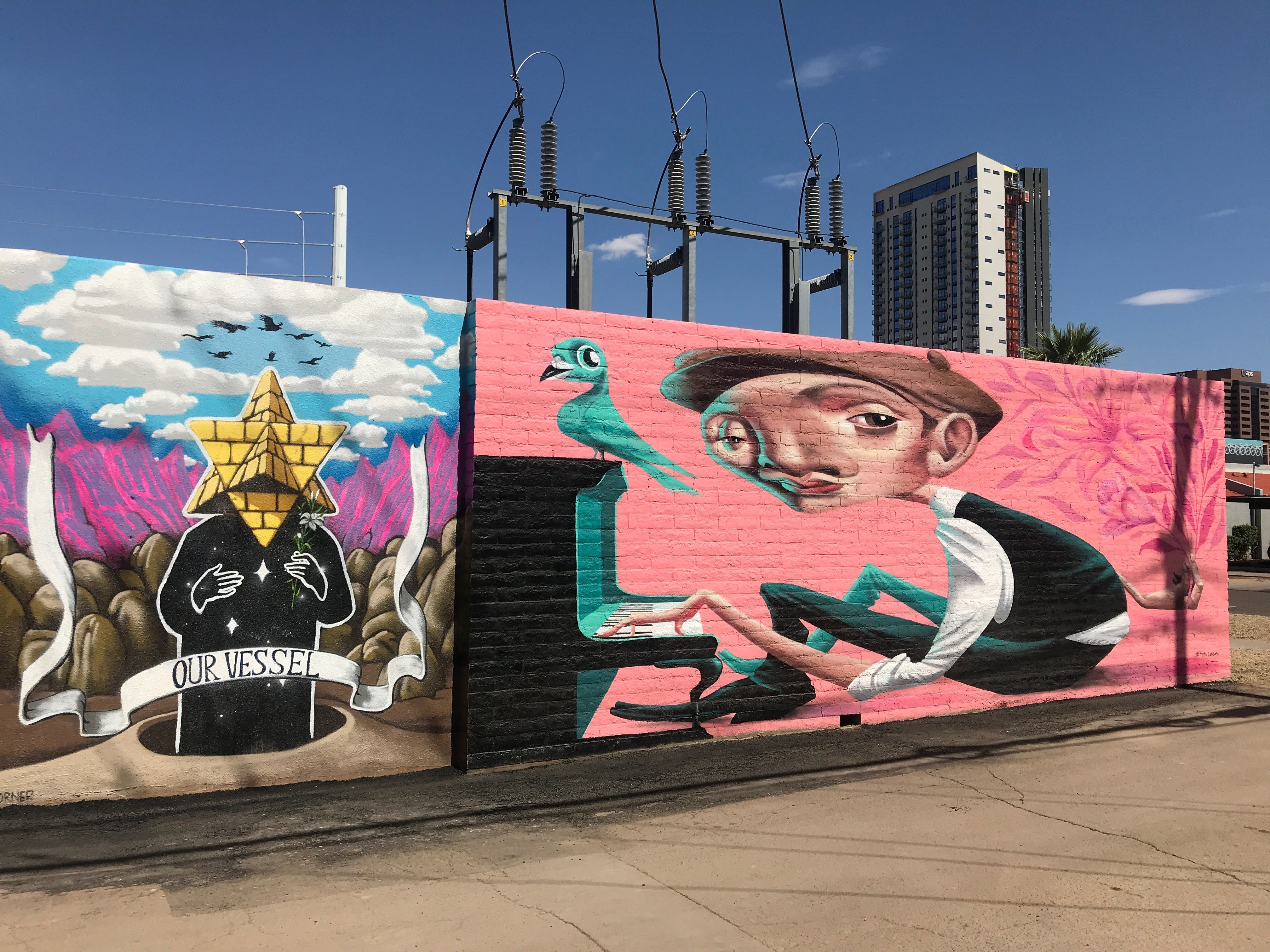 The mural behind The Churchill near First and McKinley streets on Saturday, May 11, 2019.