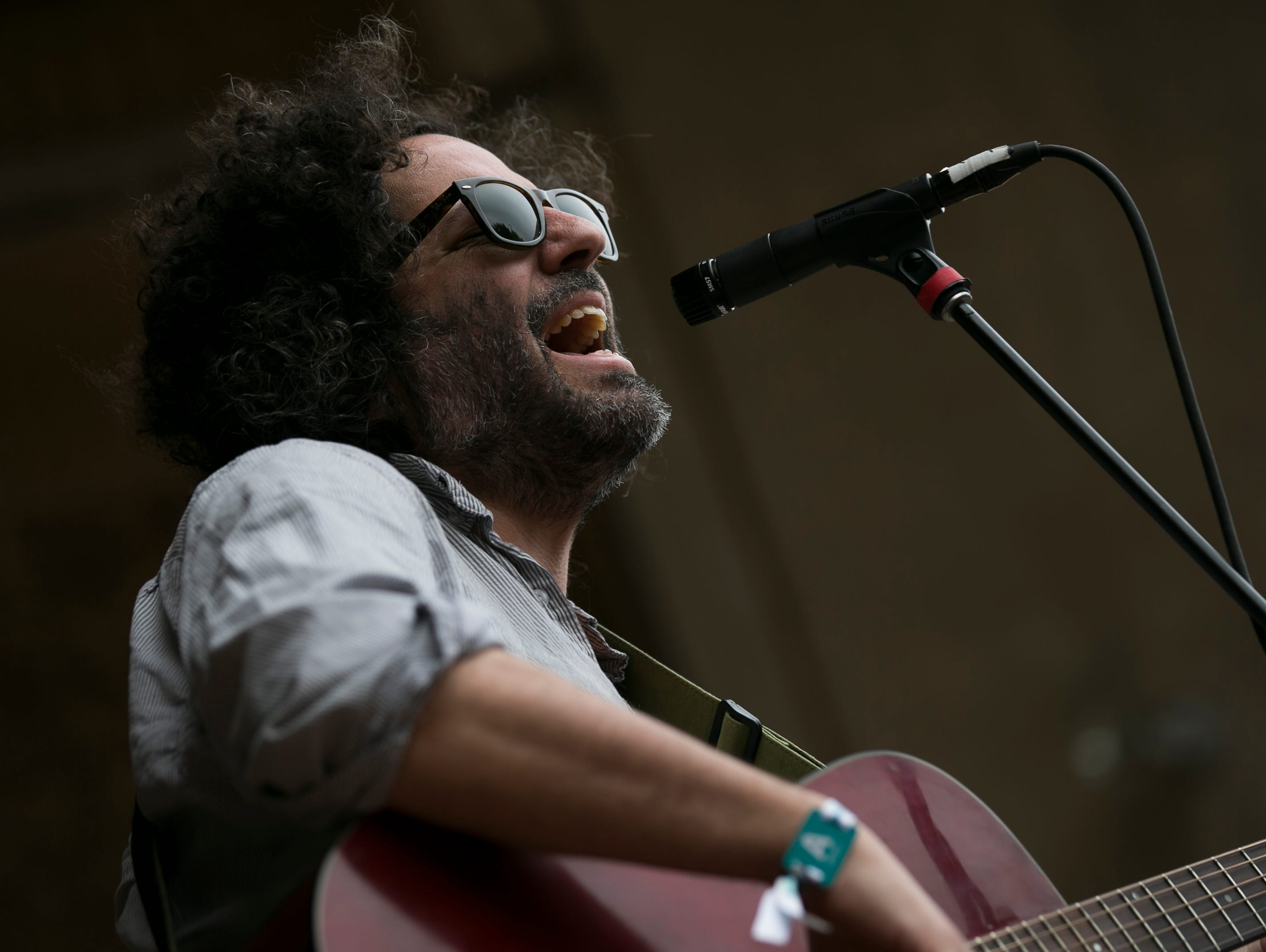 Destroyer performs at the 2019 FORM Arcosanti music festival near Camp Verde, Arizona, on May 11, 2019.