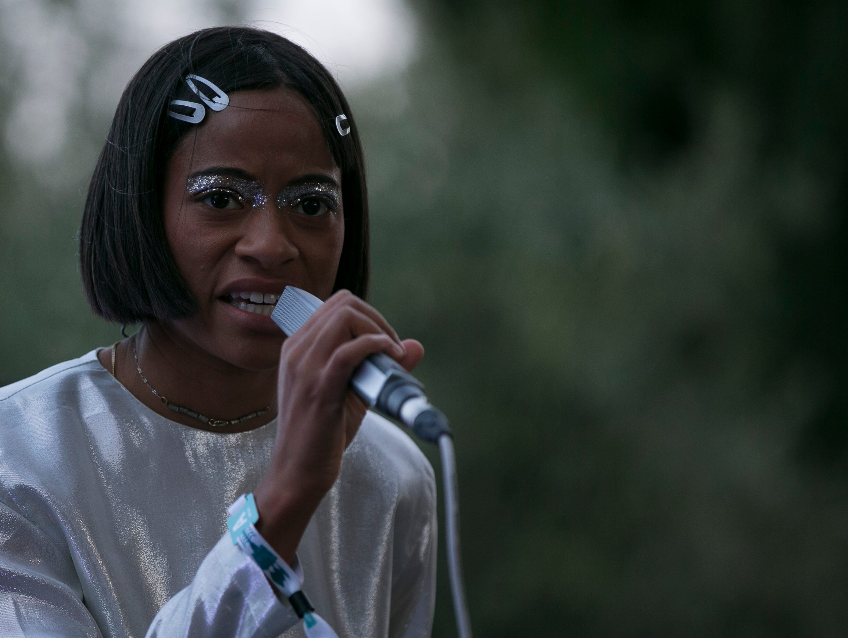 Kilo Kish performs at the 2019 FORM Arcosanti music festival near Camp Verde, Arizona, on May 10, 2019.