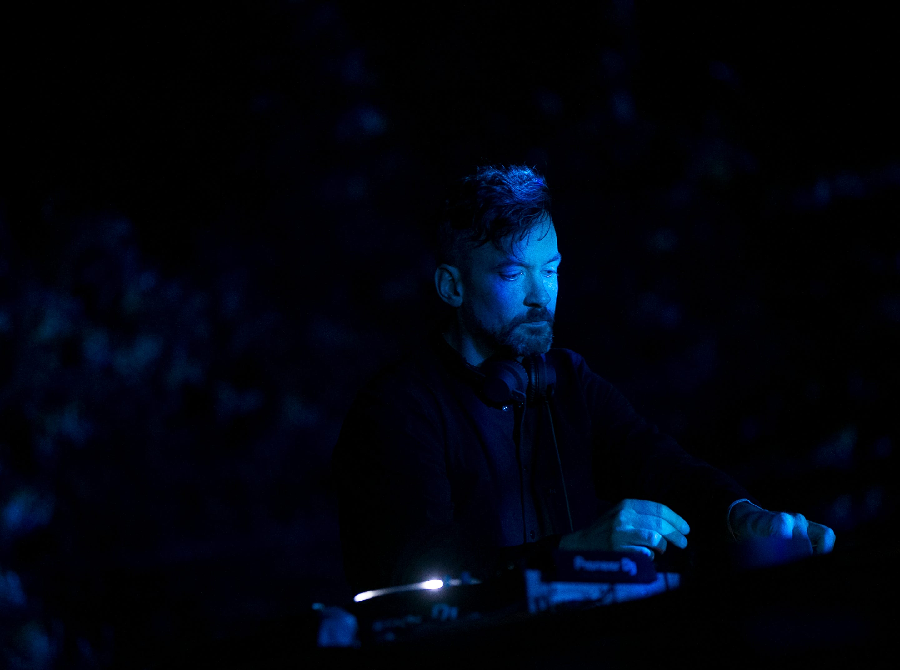 Bonobo performs at the 2019 FORM Arcosanti music festival near Camp Verde, Arizona, on May 10, 2019.