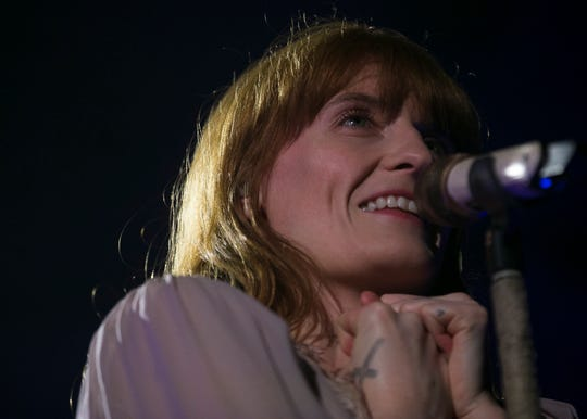 Florence and the Machine perform at the 2019 FORM Arcosanti music festival near Camp Verde, Arizona, on May 10, 2019.