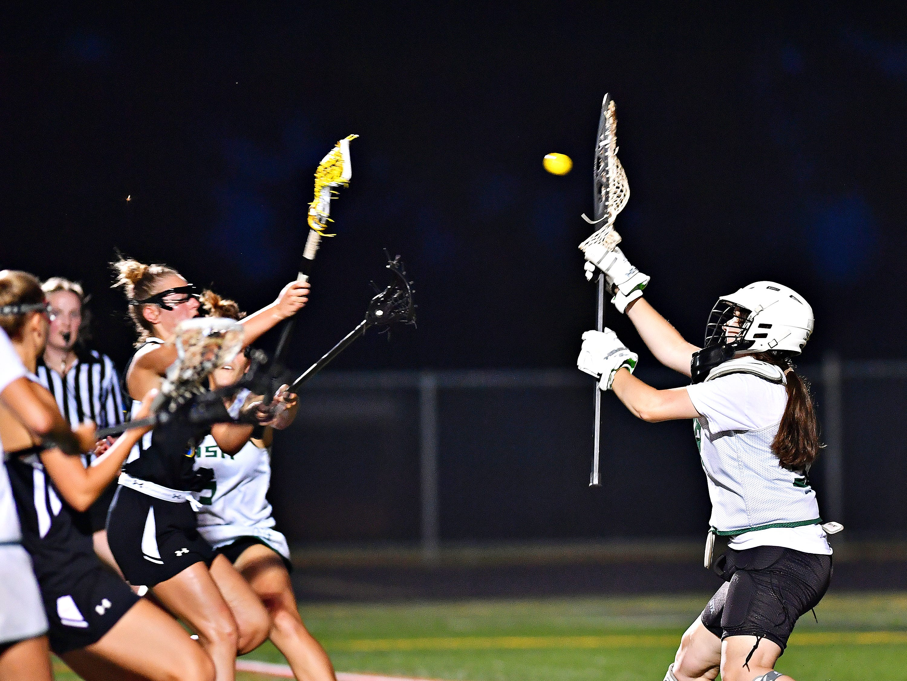 Kennard-Dale vs York Catholic during girls' lacrosse championship action at Eastern York Senior High School in Wrightsville, Friday, May 10, 2019. Kennard-Dale would win the title game 11-10. Dawn J. Sagert photo