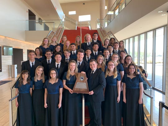 The Bobcat Chorale group from San Angelo Central High School.
