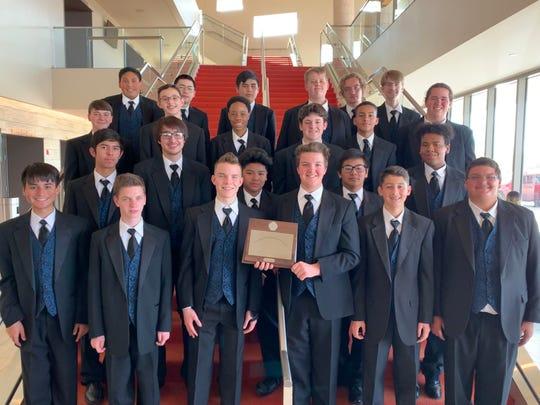 The Men's Choir from San Angelo Central High School.
