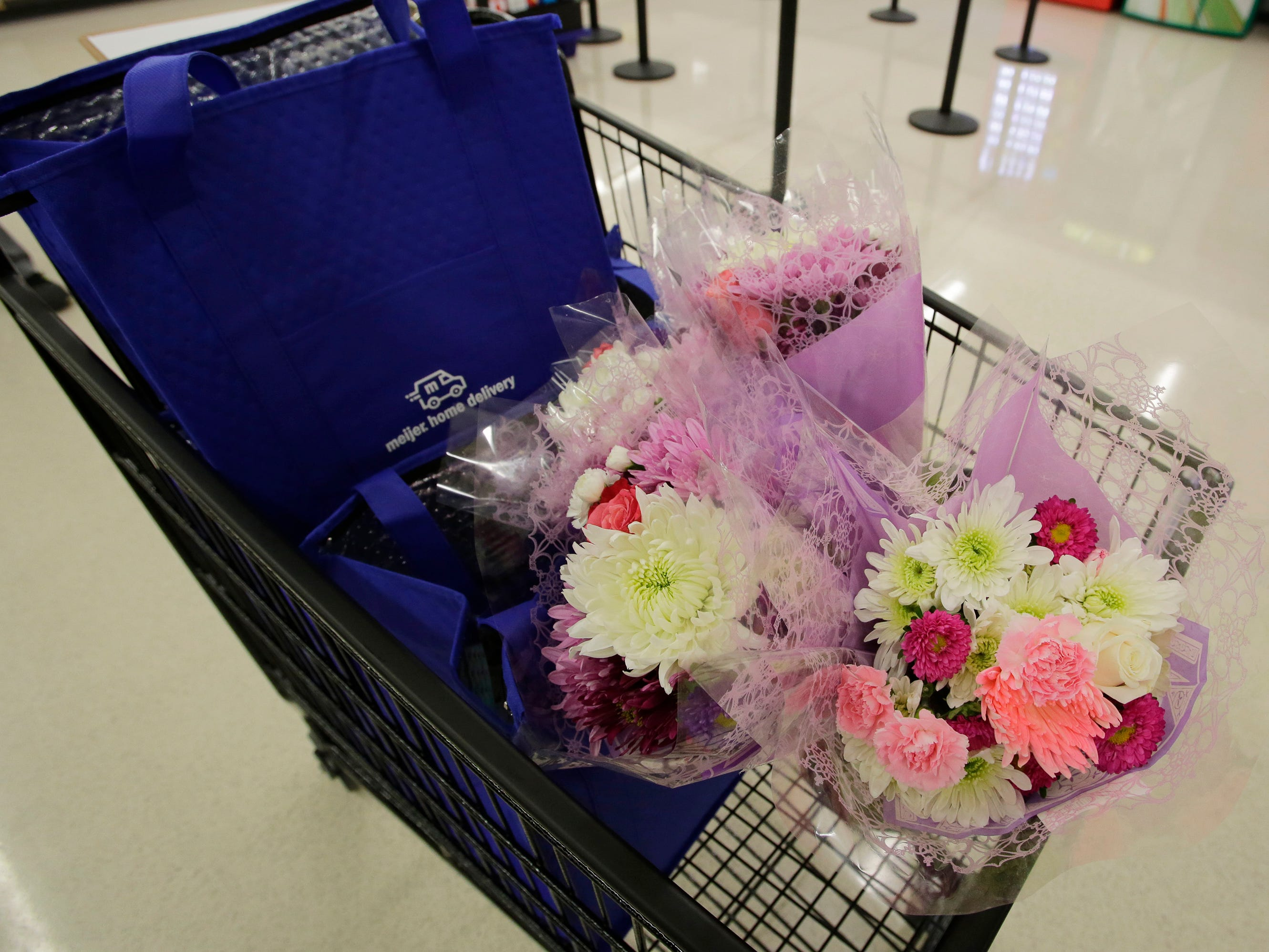 Gifts that were distributed to random mothers at Meijer, Saturday, May 11, 2019, in Sheboygan, Wis.