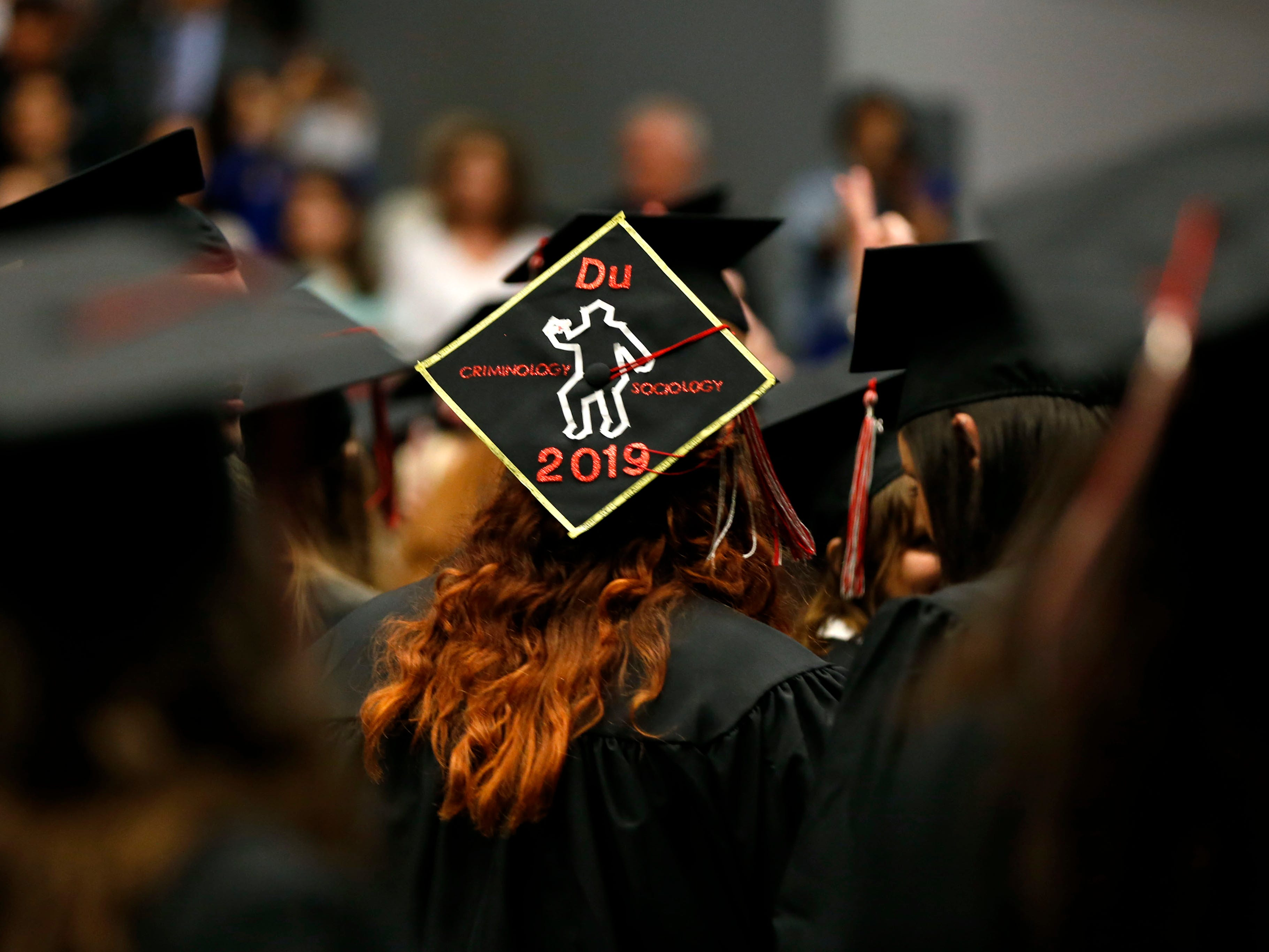 Scenes from the Drury University Commencement Ceremony at the O'Reilly Family Event Center on Saturday, May 11, 2019.