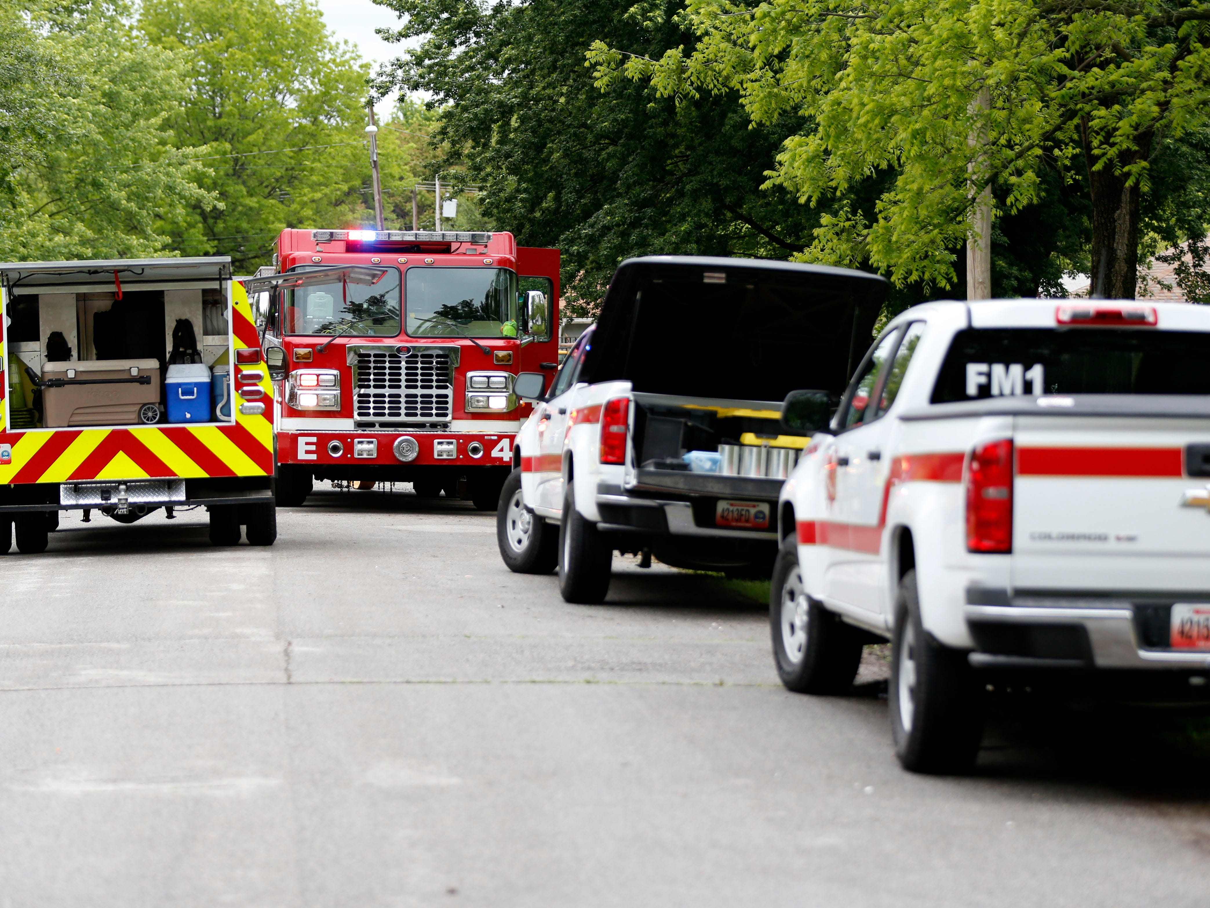 Officials are investigating a fire in the 1600 block of North Burton Avenue that left a man with potential life-threatening injuries on Saturday, May 11, 2019.