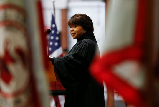 Cheryl Brown Henderson, the daughter of Rev. Oliver Brown who filed a lawsuit against the Topeka Board of Education, spoke at the Drury University commencement in spring 2019.