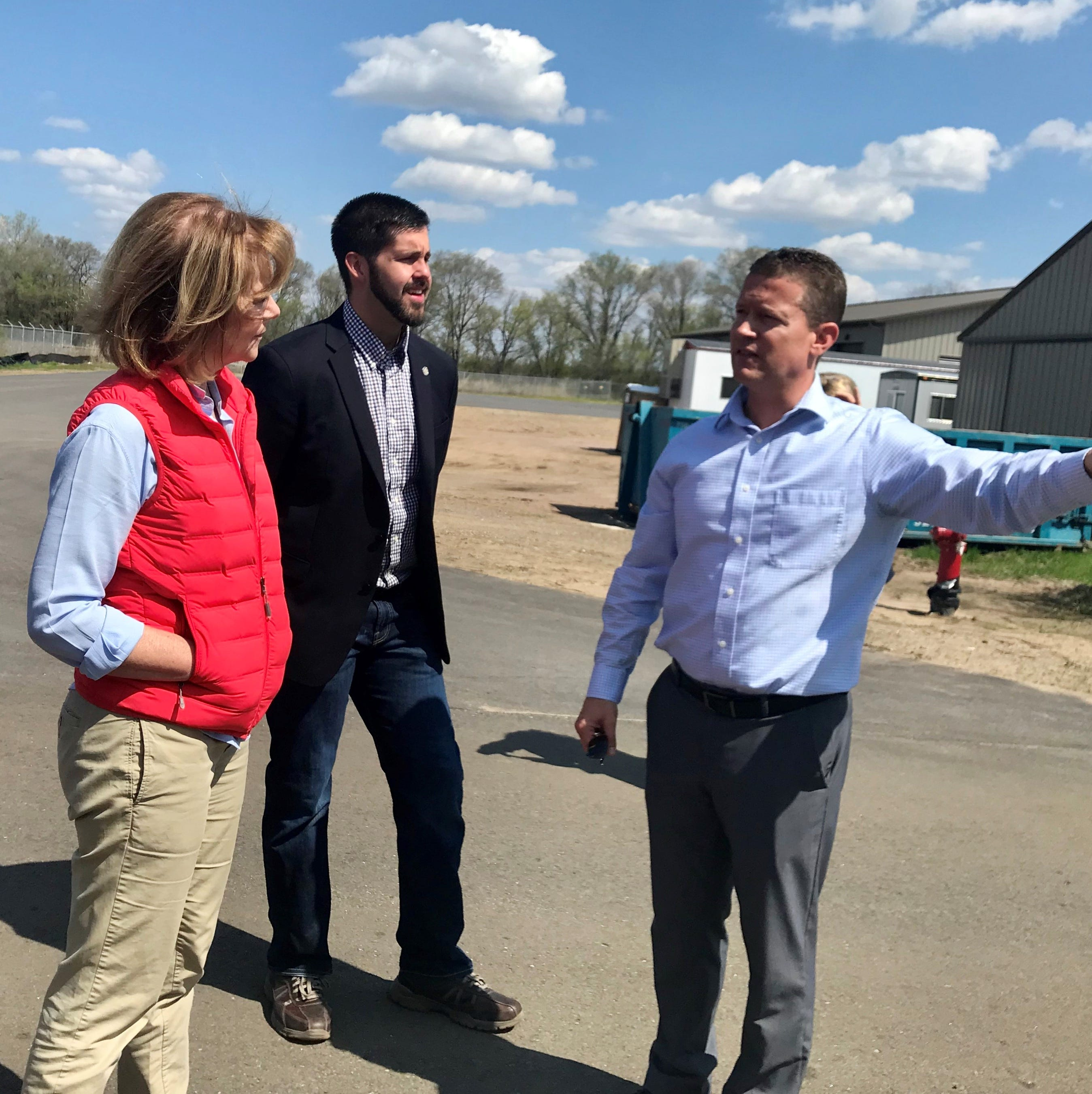 Sen. Tina Smith visits St. Cloud to tour wastewater facility, promote Clean Energy Standard Act