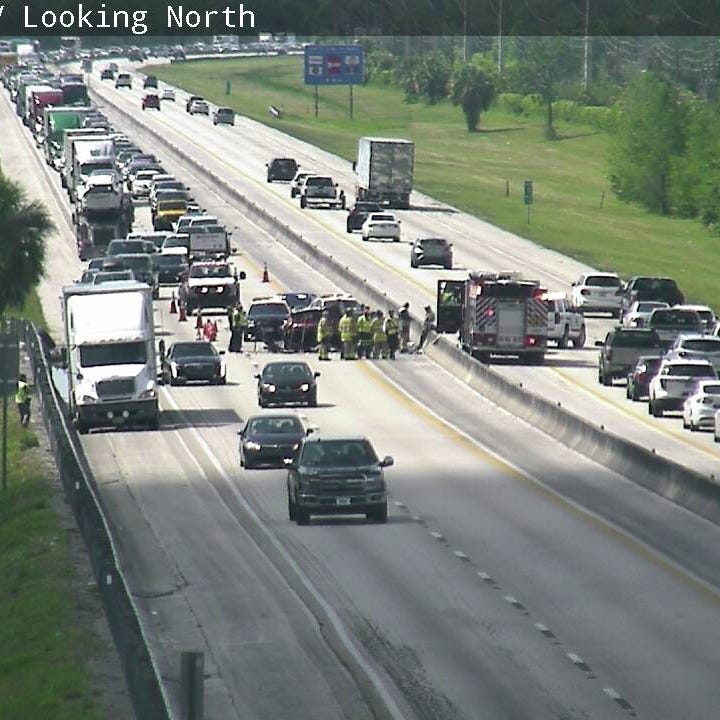 Turnpike crash near Stuart blocking southbound lanes