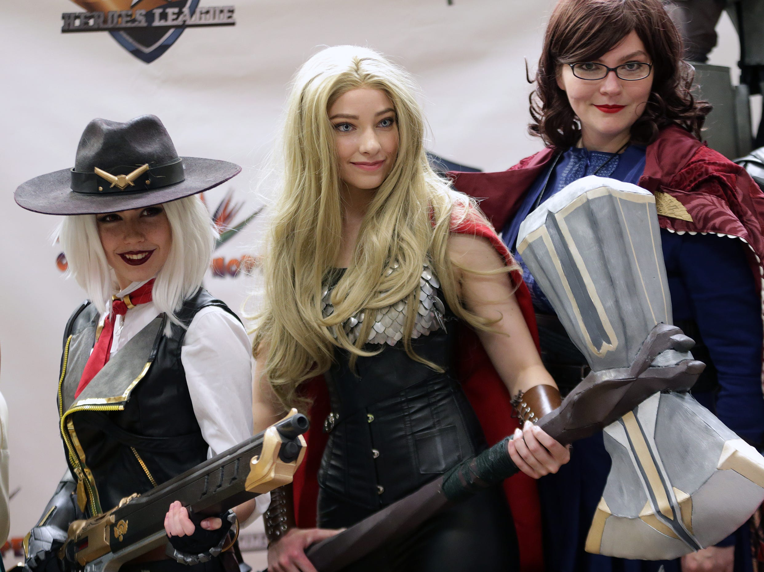 Coronado High School held their first every Coronado Thundercon Saturday. Cosplayer Nadyasonika was transformed into Android 21 by artists Lymari Millot and Marichuy Ortega live during the event.